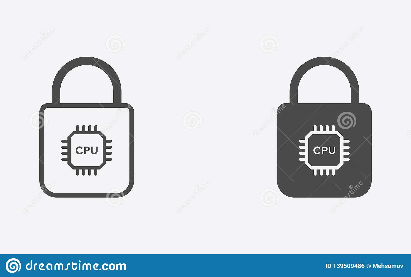 Smart lock filled and outline vector icon sign symbol