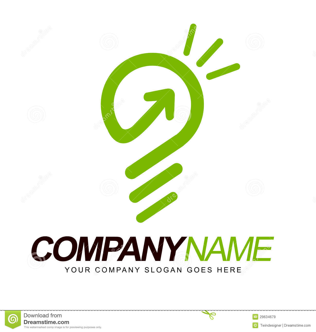 ... company logo representing a light bulb and smart concept behind it