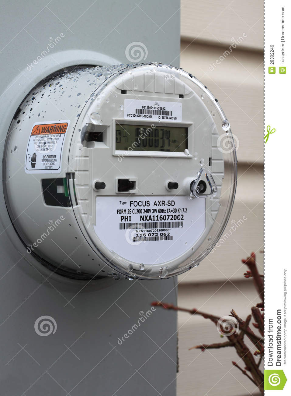 Residential Energy Meter : Smart meter stock photo image of exterior customer