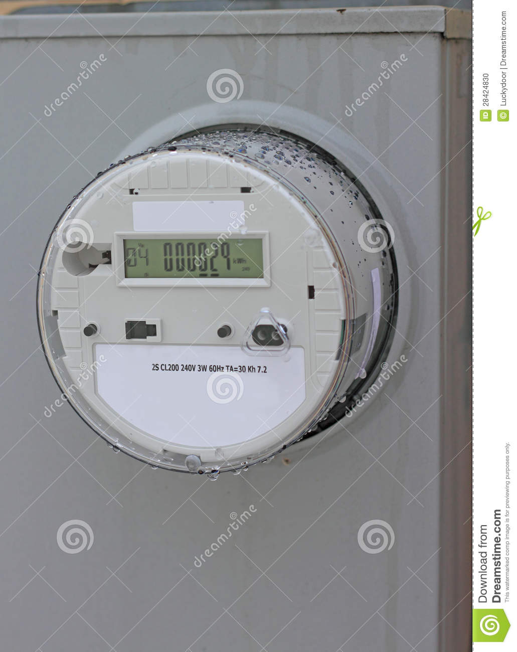 Residential Energy Meter : Smart meter stock photo image