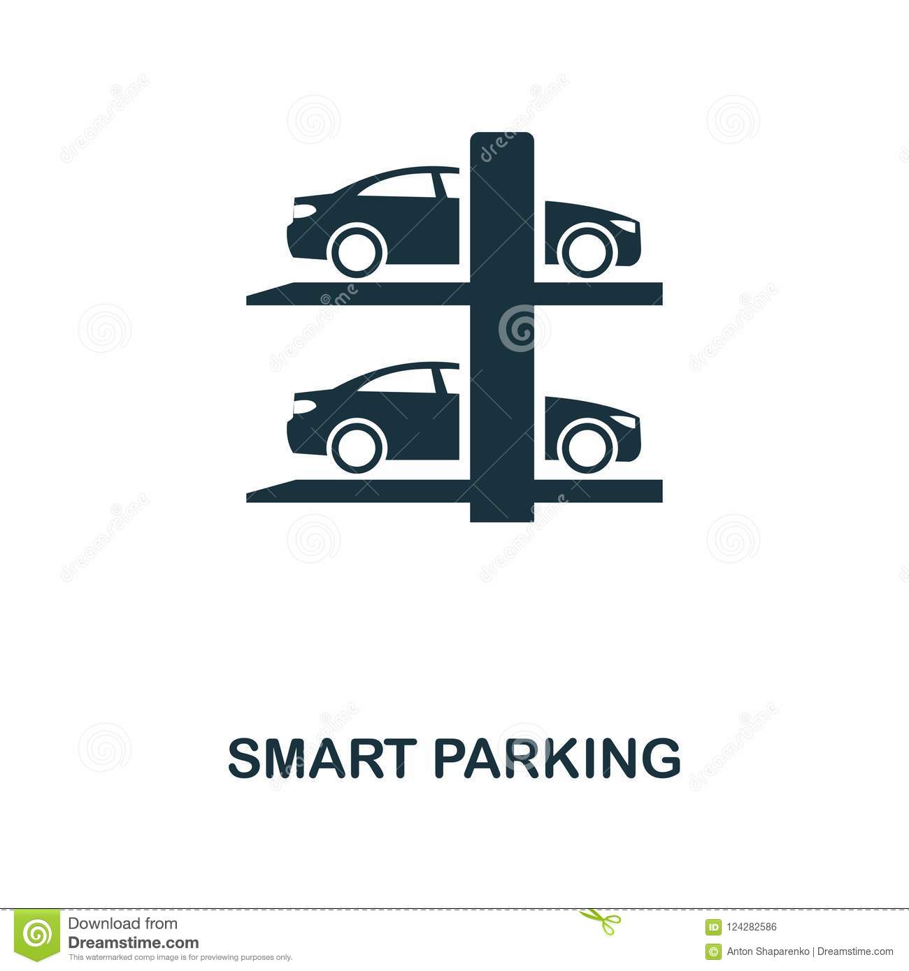 Smart Parking Icon Monochrome Style Icon Design From Smart Devices Icon Collection Ui Illustration Of Smart Parking Icon Picto Stock Illustration Illustration Of Automatic Autonomous 124282586