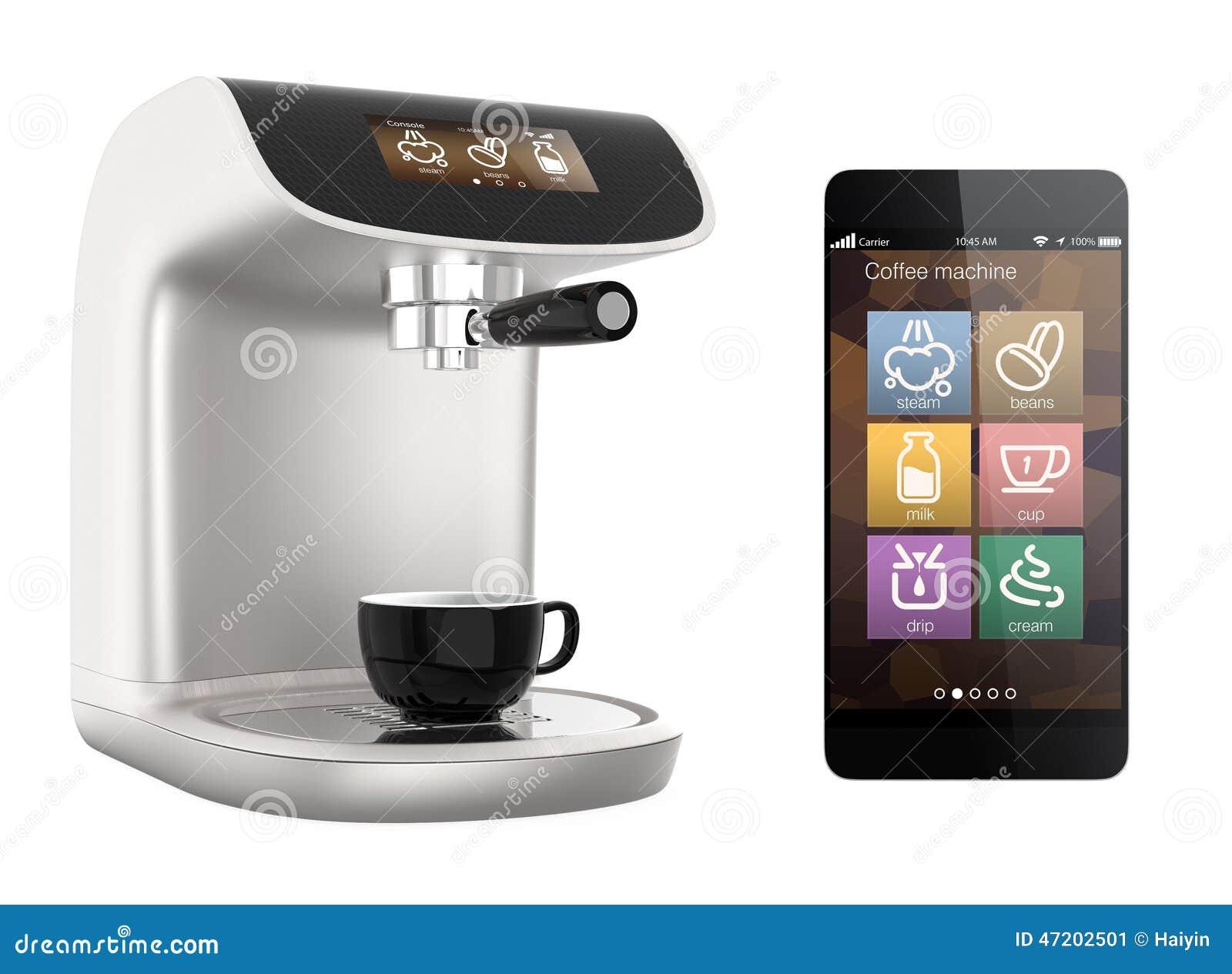 Smart Phone Apps For Coffee Machine Original Design Stock