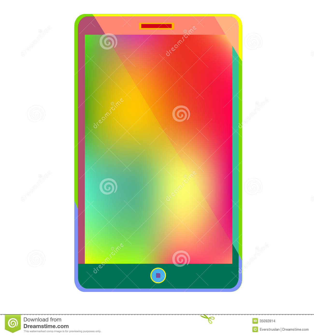 information technology gadgets smart phone bright new technology and colorful inf stock 22597