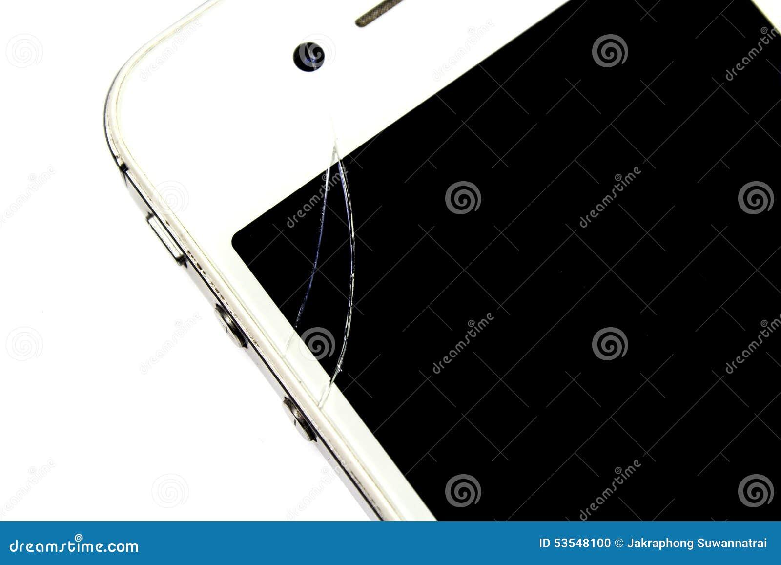 Smart phone is broken on screen