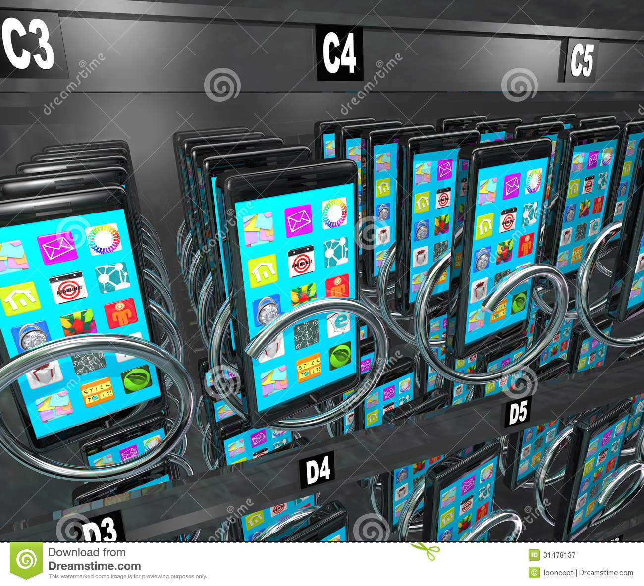 Smart Phone Cellphone Vending Machine Buying Telephone ...