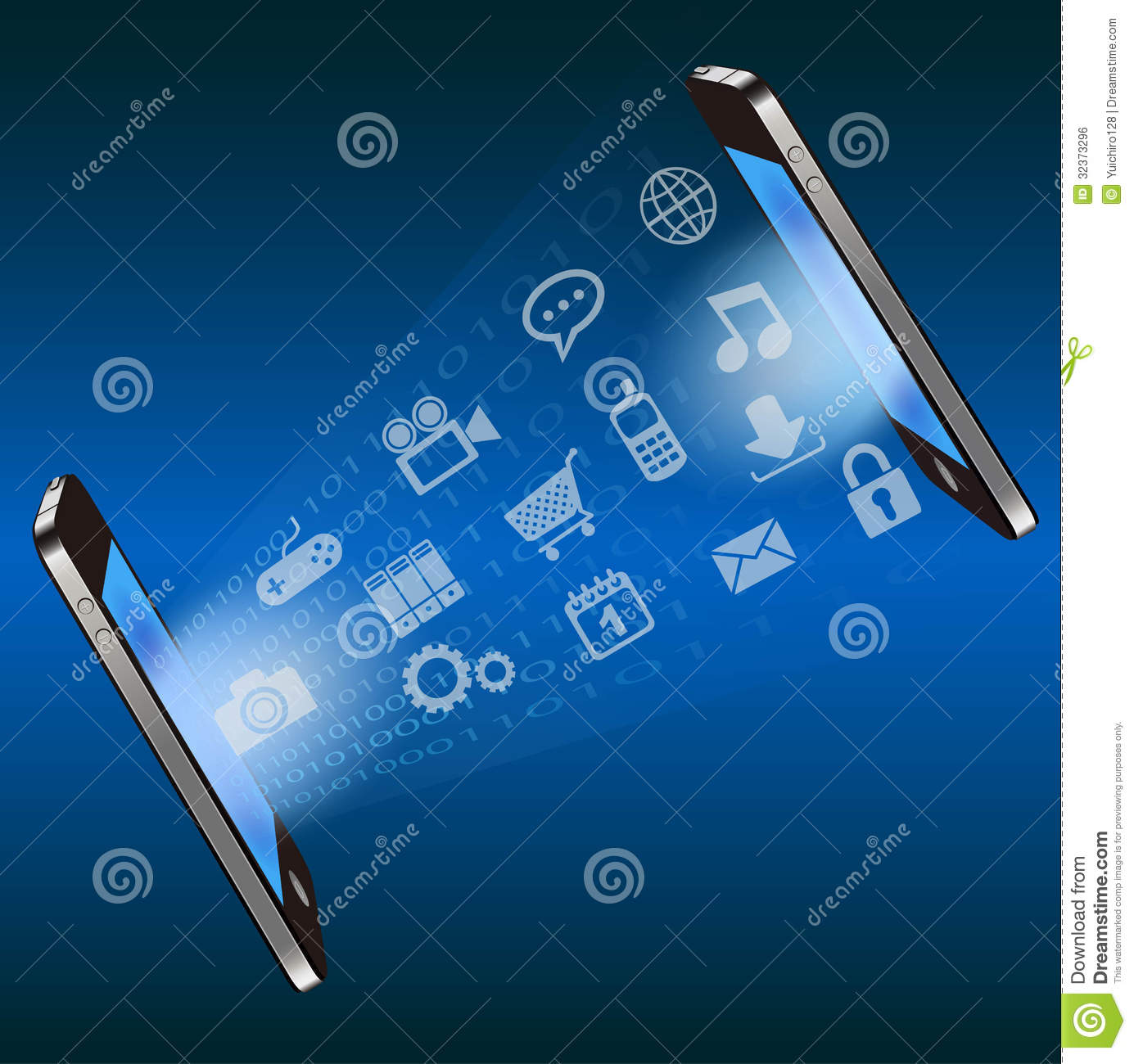 Smart Phone Communication Technology Background Royalty ...