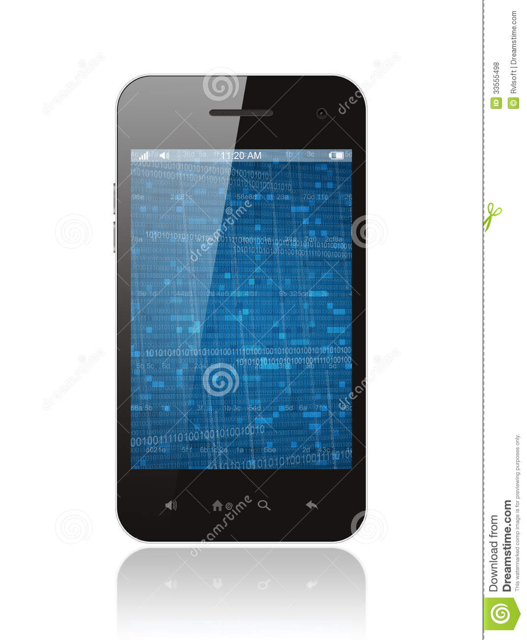 Smart Phone With Digital Background Royalty Free Stock