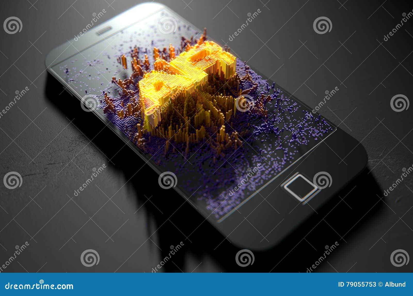 Smart Phone Emanating Augmented Reality