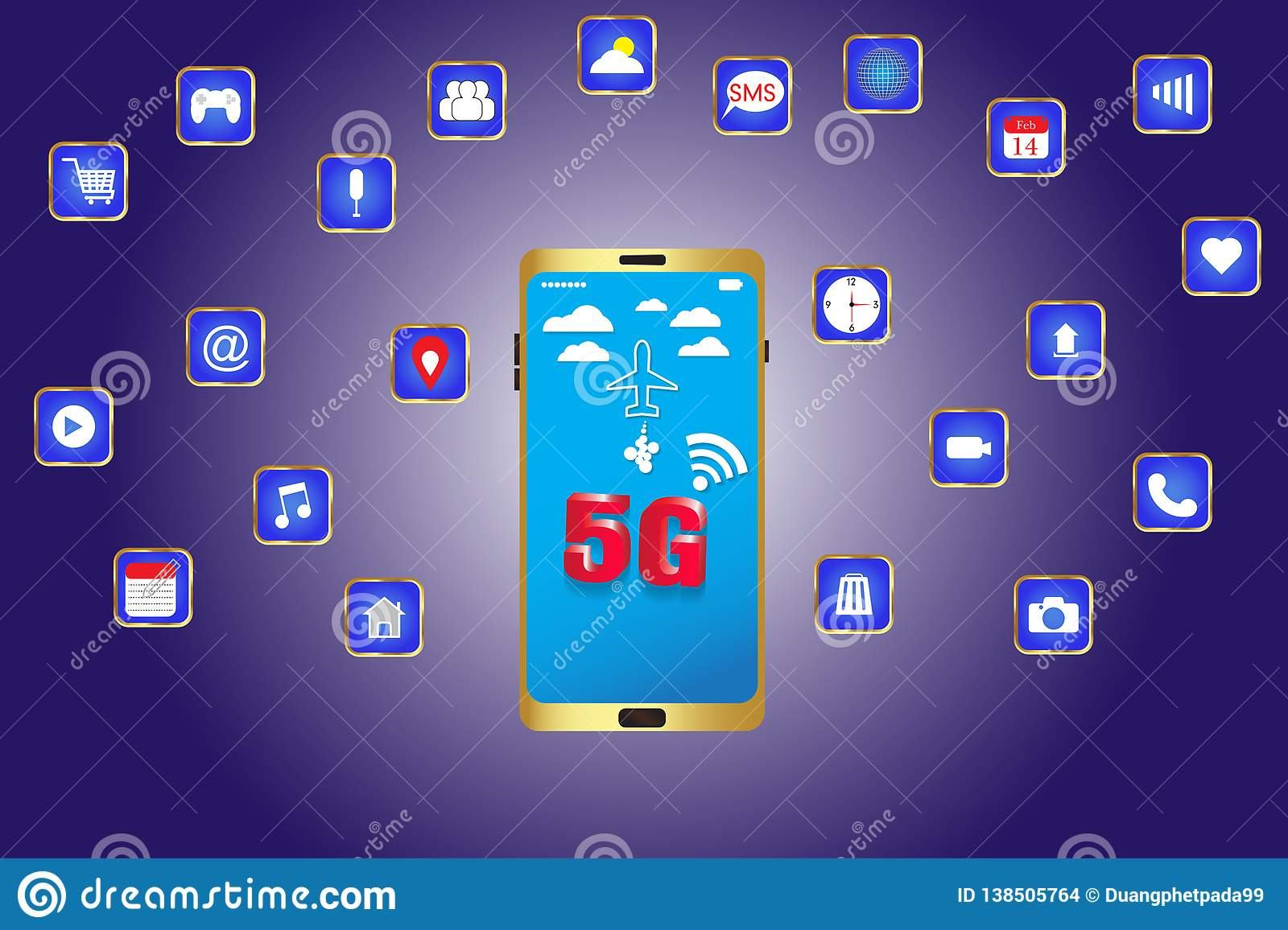 Smart phone with 5g high speed wifi in the future
