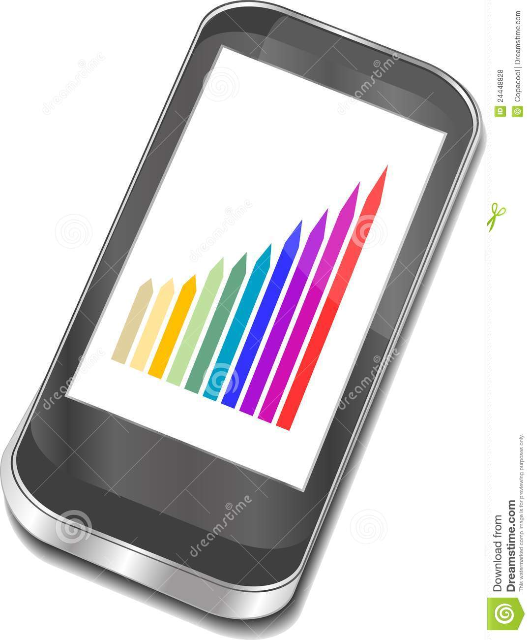 Smart Phone With Graphic Picture Royalty Free Stock Photos ...