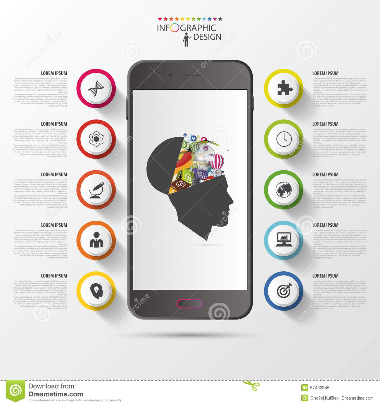 Smart Phone Infographics. Modern Design Template. Vector ...