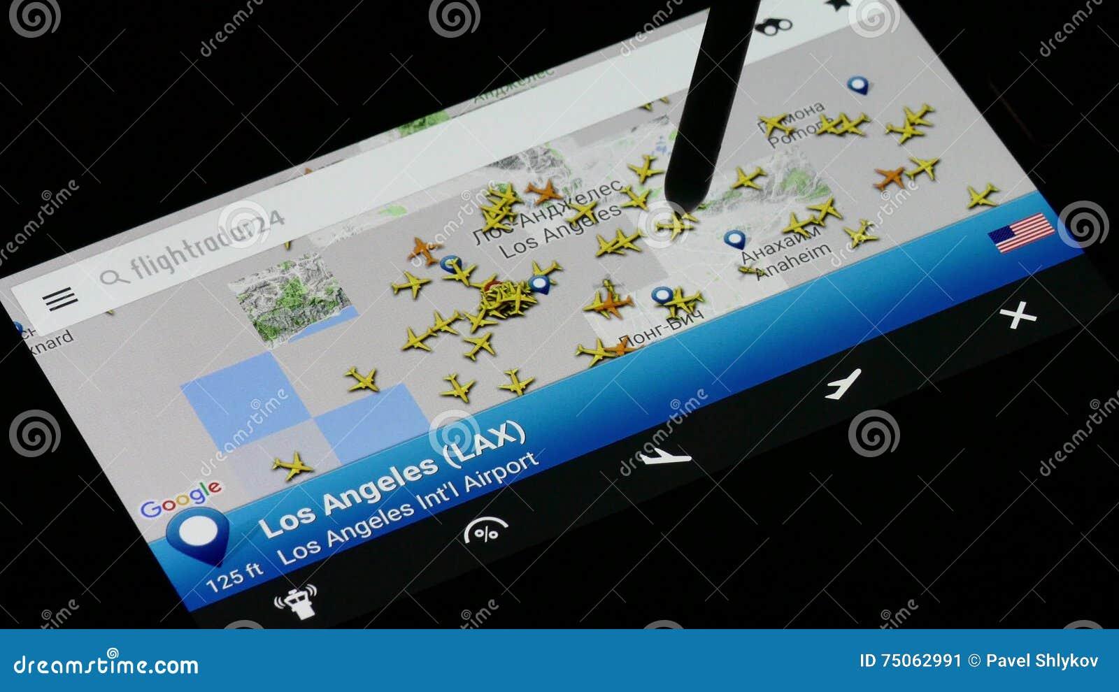 Smart Phone Screen With FLIGHTRADAR24 On It  Stock Video