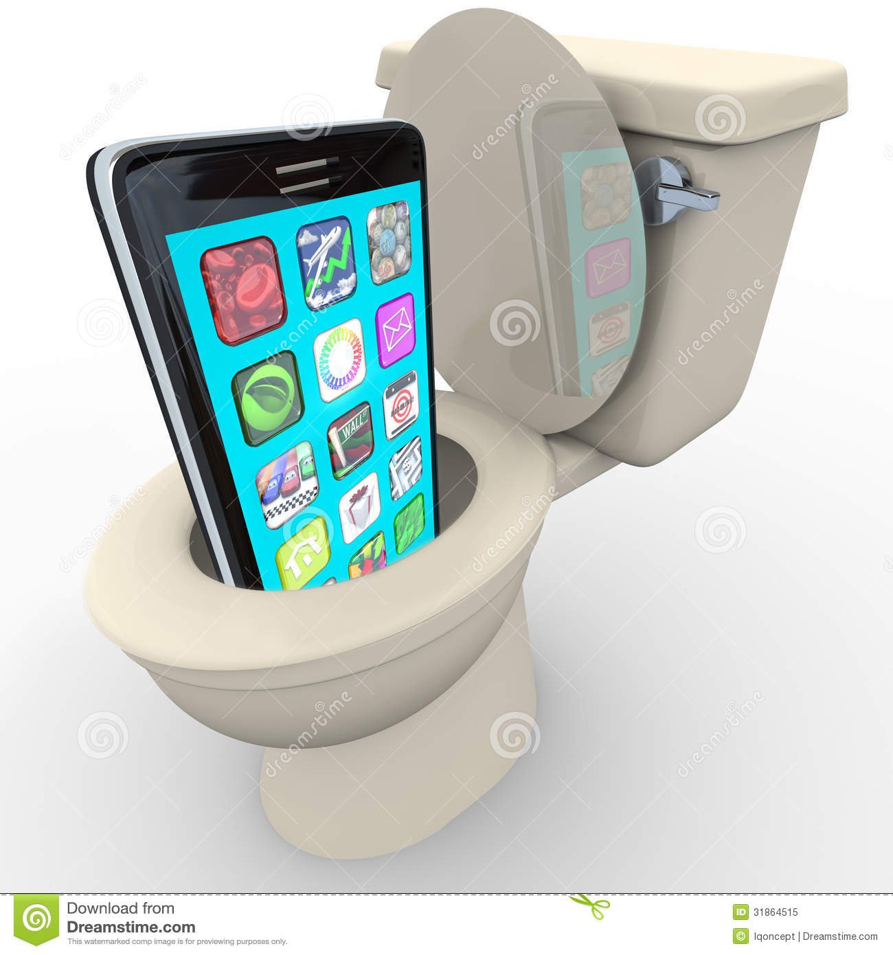 Smart phone in toilet frustrated old model obsolete royalty free stock photo image 31864515 - Toilet toilet model ...
