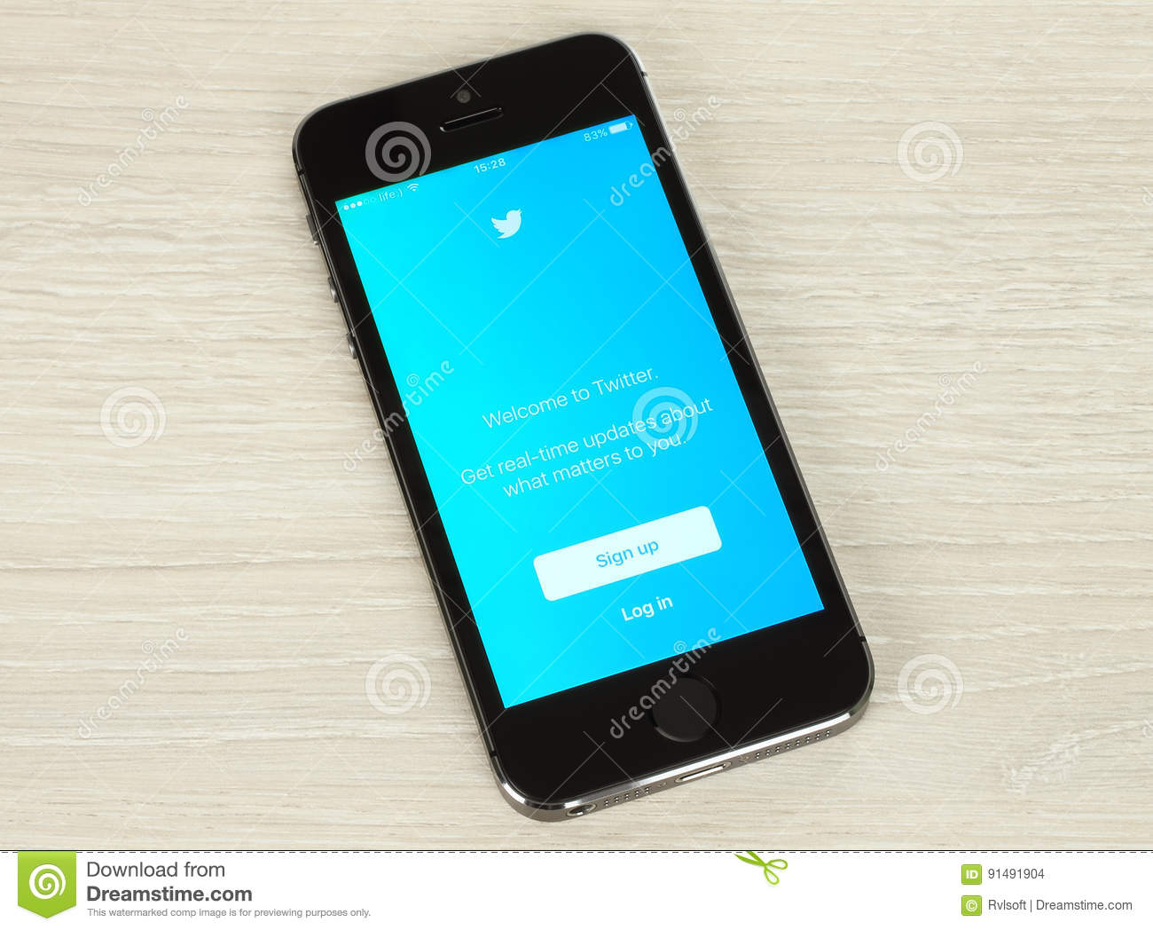 Smart Phone with Twitter Login Web Page on Its Screen Editorial ...