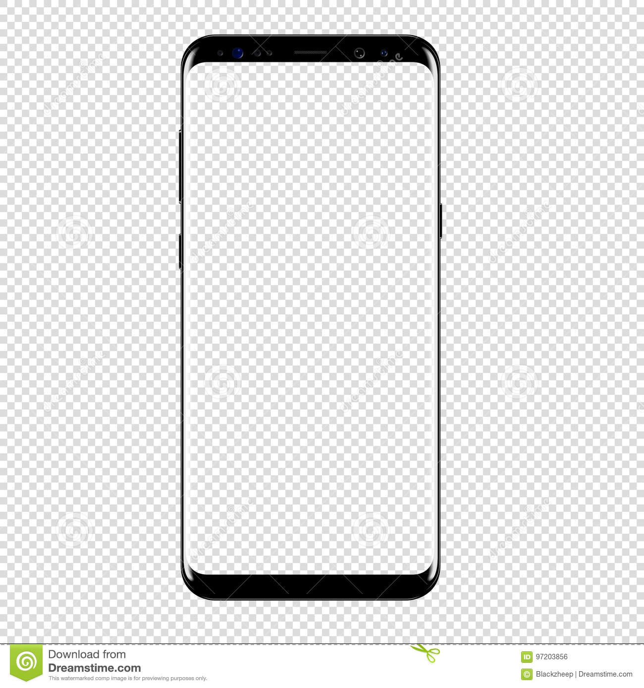 Smart Phone Vector Drawing Transparent Background Stock Vector Illustration Of Plus Display 97203856