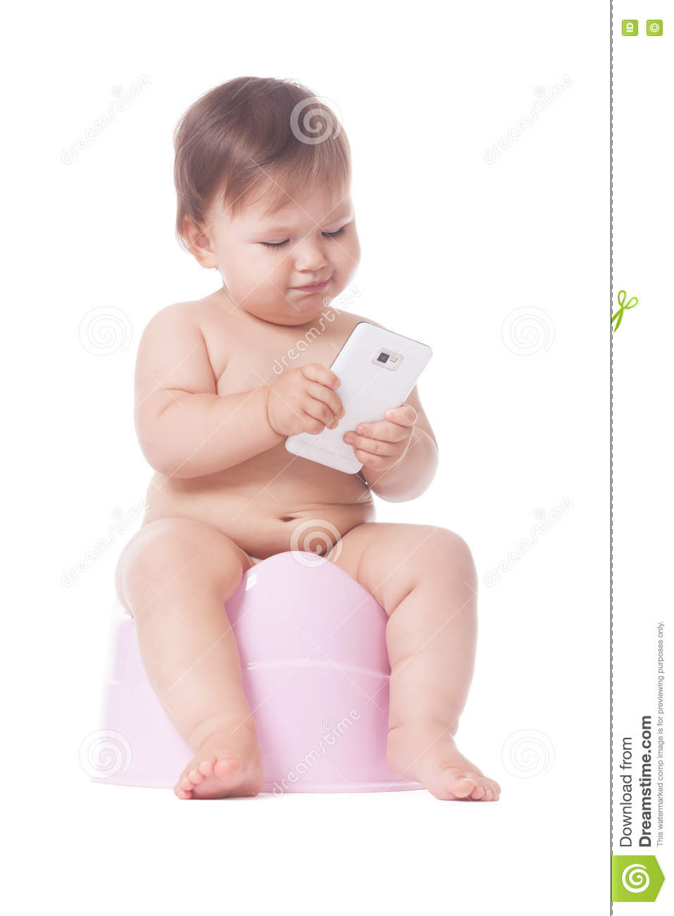 Download Smart potty training stock photo. Image of infant, cute - 80083122