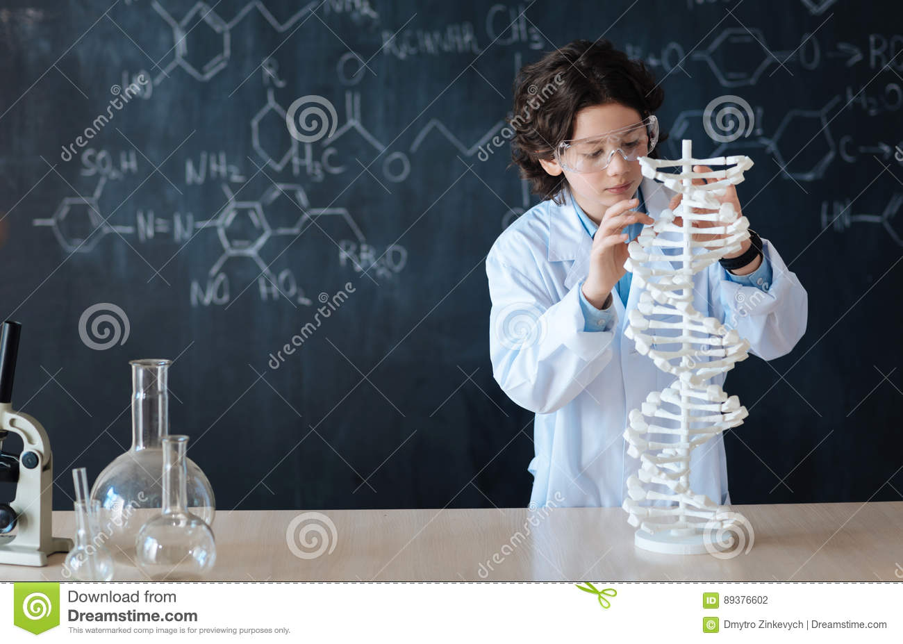 Smart Pupil Enjoying Chemistry Class At School Stock Photo - Image