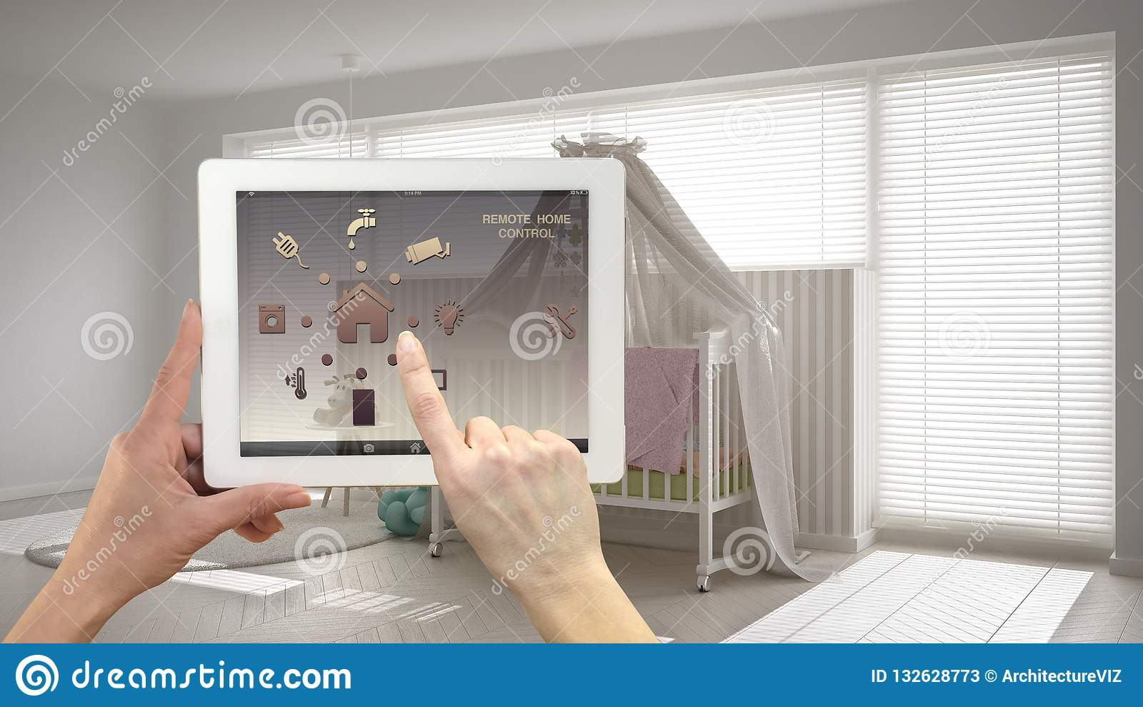 Smart Remote Home Control System On A Digital Tablet  Device With