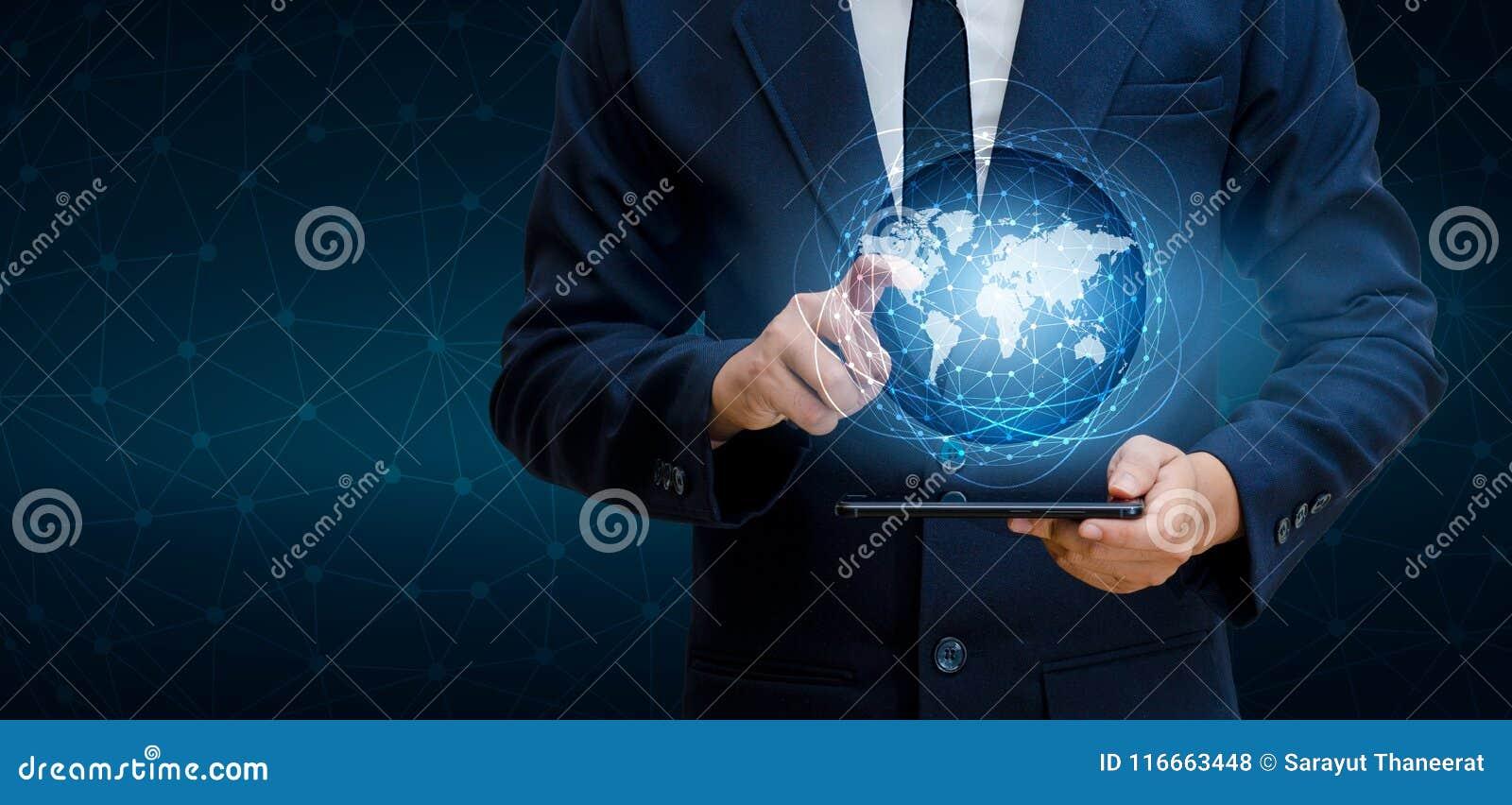 Smart ringer, och folket för affär för internet för värld för kommunikation för jordklotanslutningar trycker på det ovanliga tele