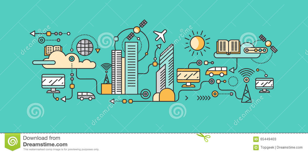 Smart Technology In Infrastructure Of The City Stock