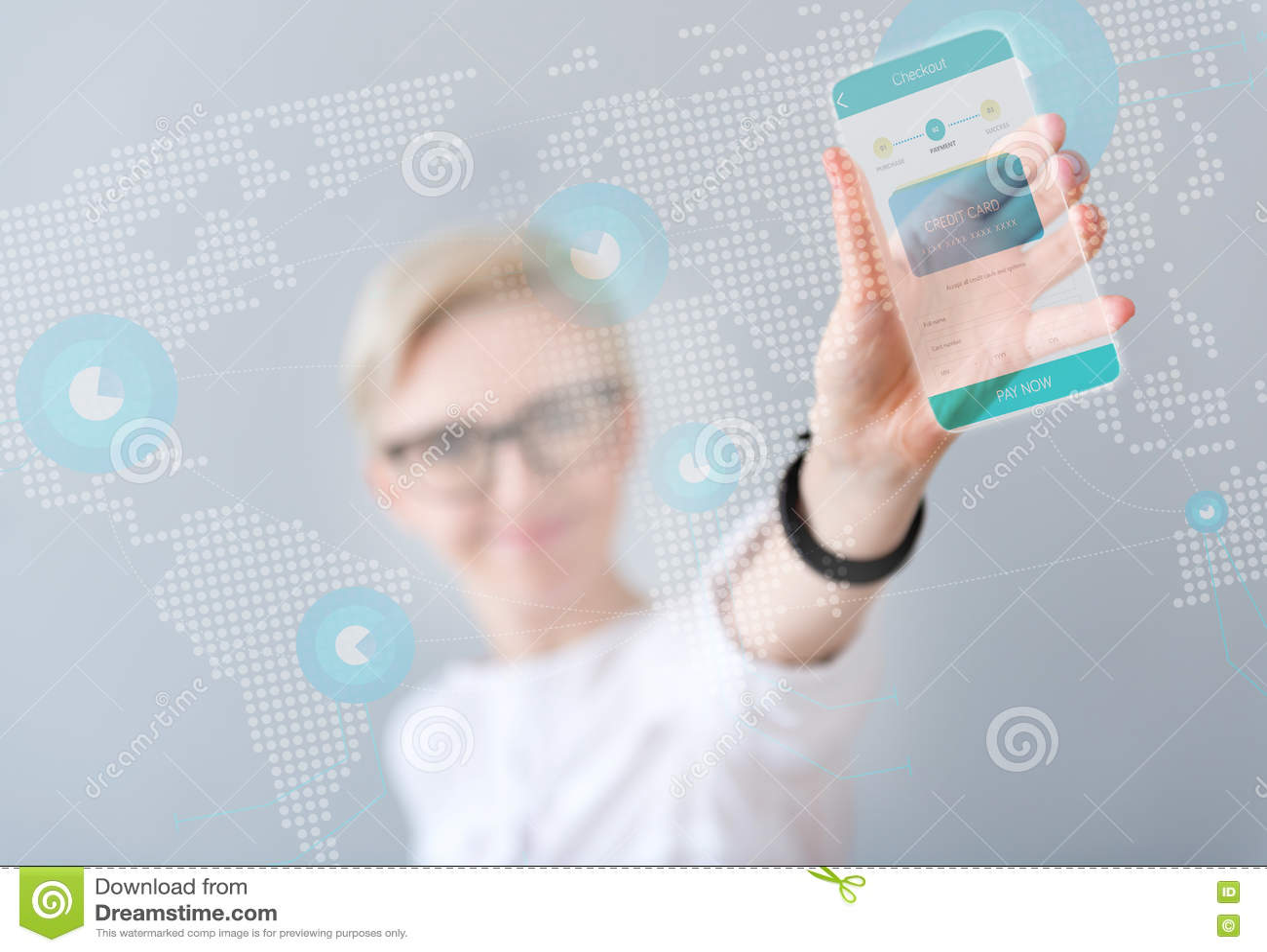 Smart telefon för angenämt kvinnainnehav