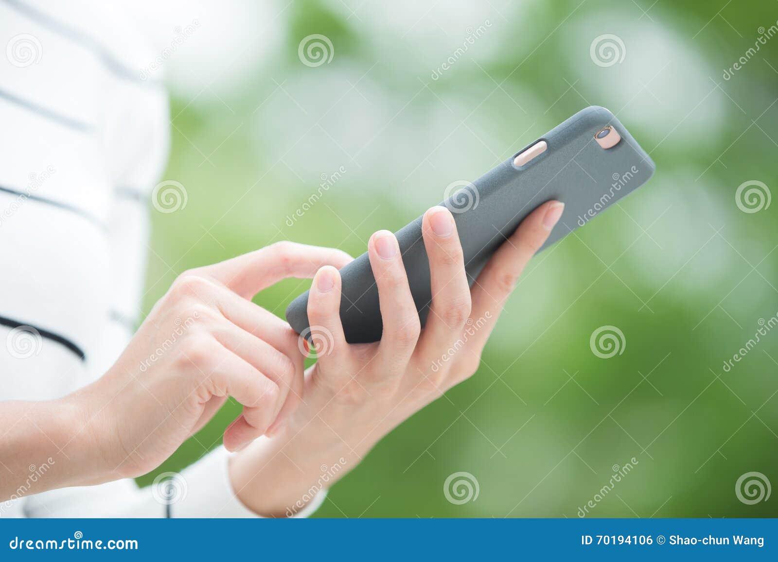 Smart telefon för kvinnabruk