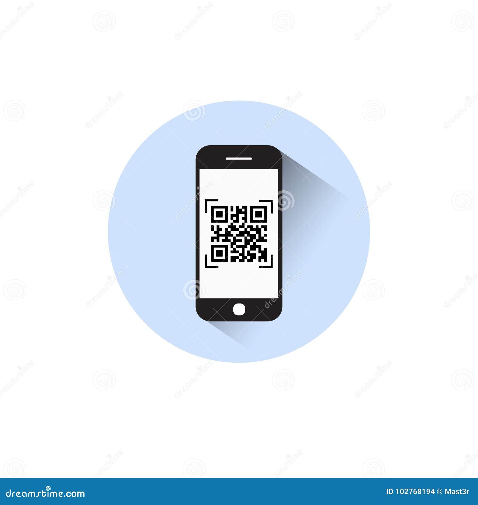 Smart telefon som avläser bildläsning för Barcode för Qr kodsymbol med telefonen