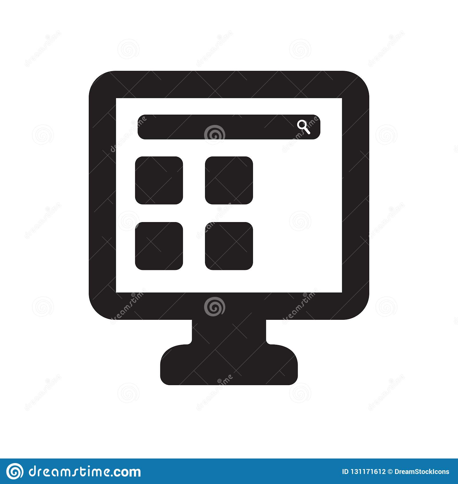 smart Television icon. Trendy smart Television logo concept on w