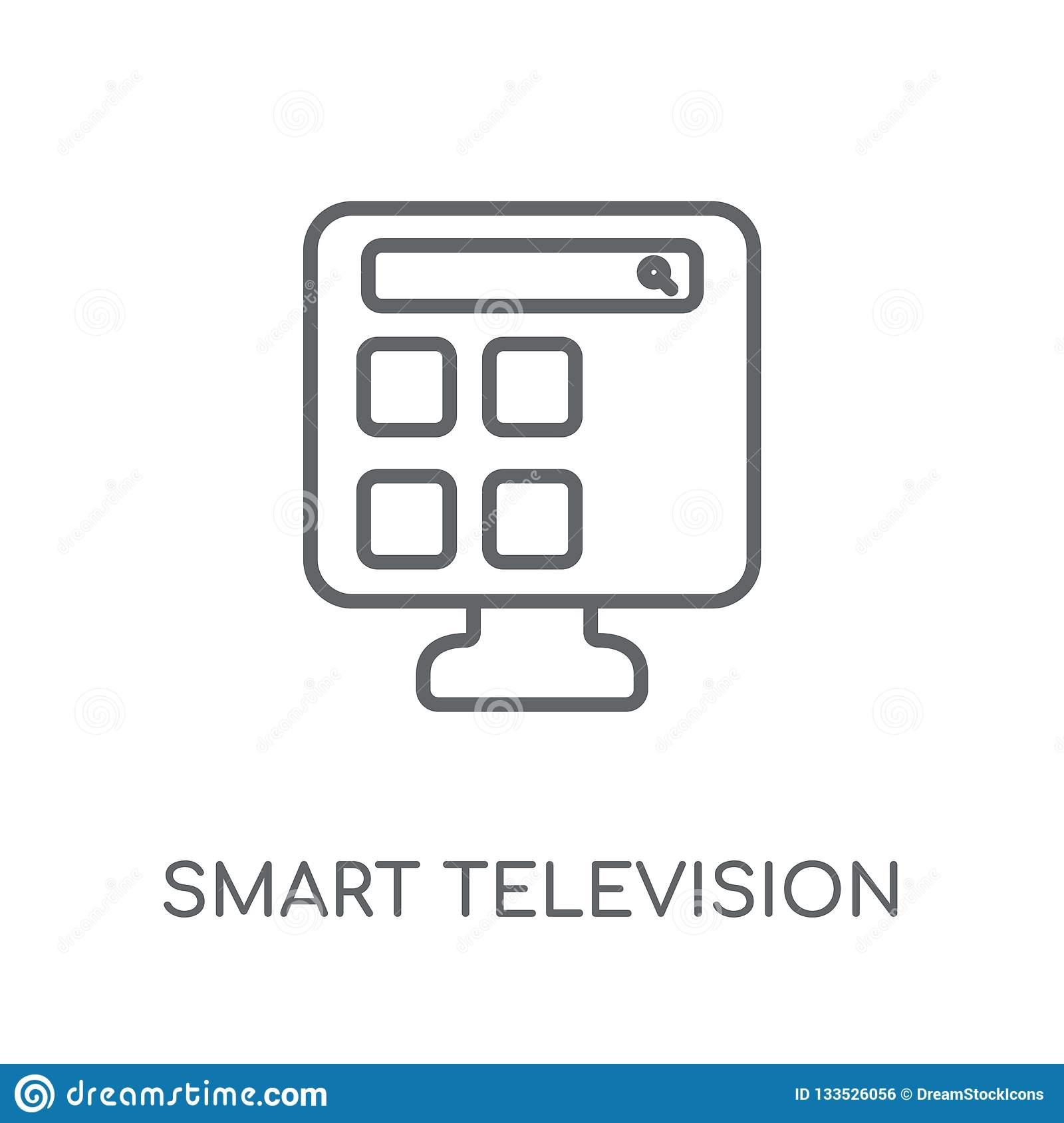smart Television linear icon. Modern outline smart Television lo