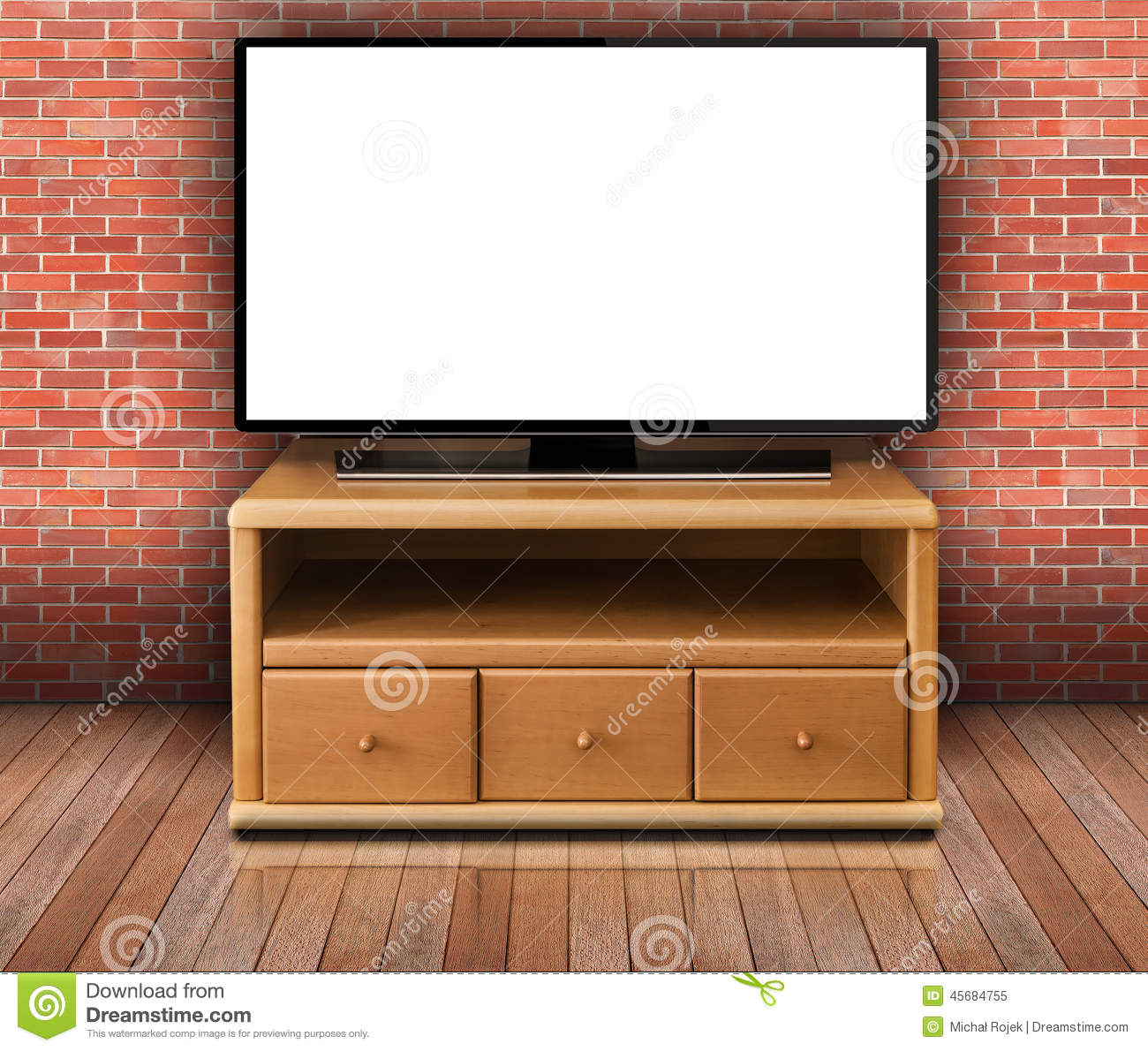 Tv In Living Room Smart Tv With Blank Screen In Modern Living Room Stock Photo
