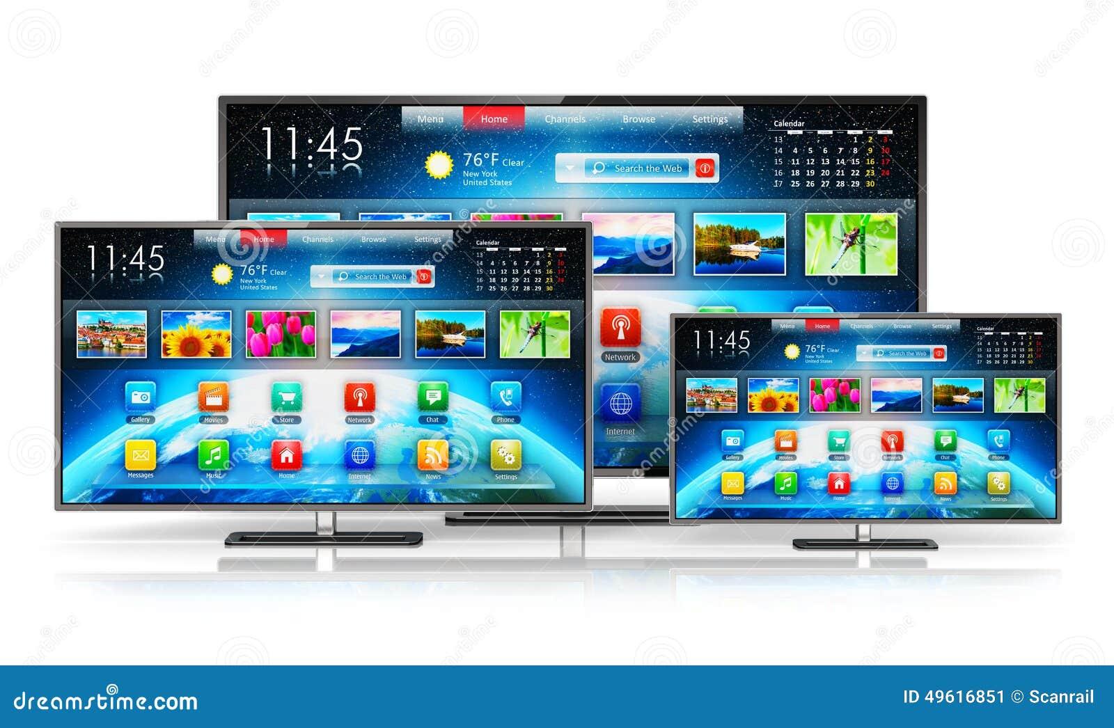 smart tv stock illustration image of computer plasma 49616851. Black Bedroom Furniture Sets. Home Design Ideas