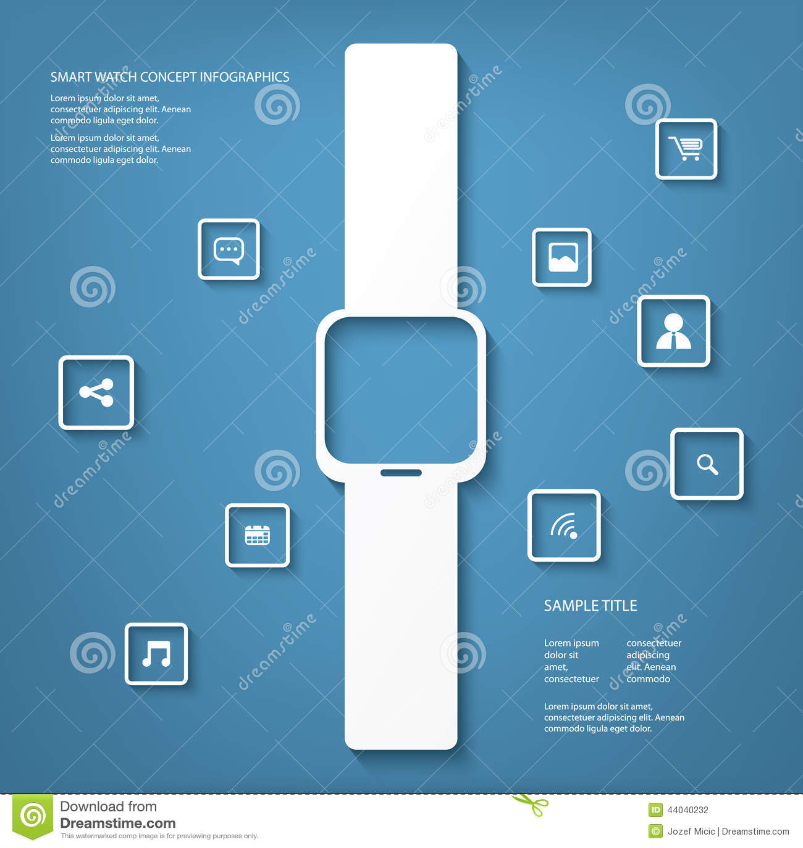 Smart Watch Concept Vector Illustration Stock Diagram Download Of Information 44040232