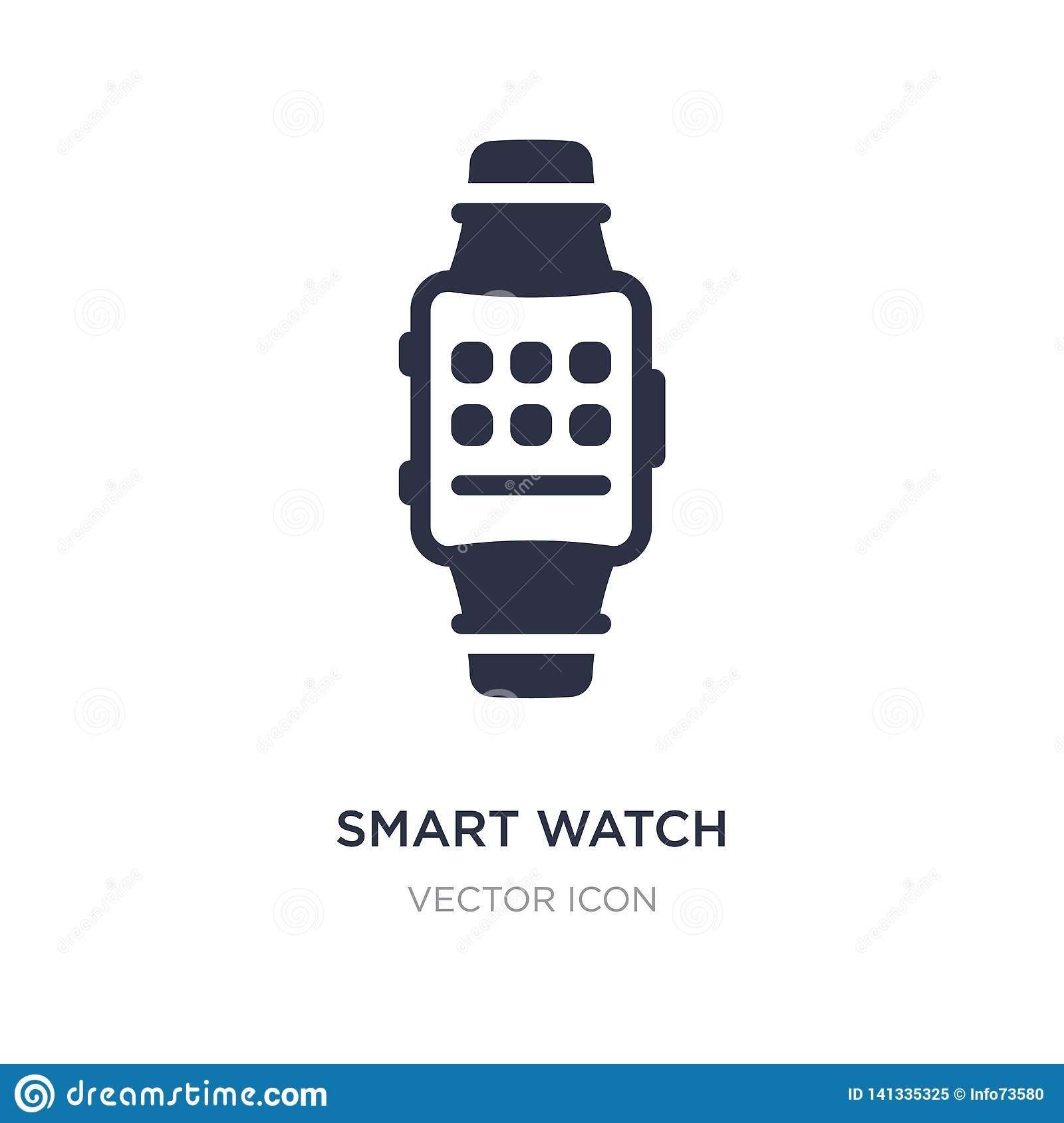 smart watch icon on white background. Simple element illustration from Technology concept