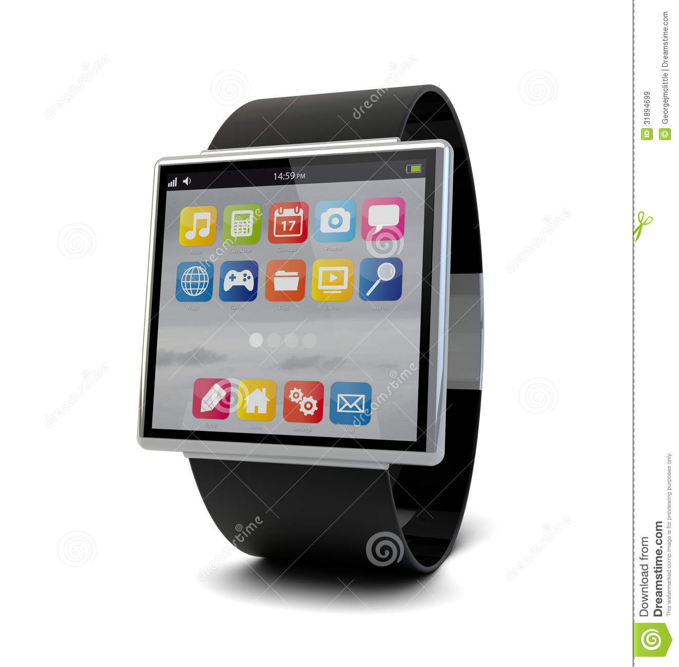 Smart Watch Royalty Free Stock Images - Image: 31894699
