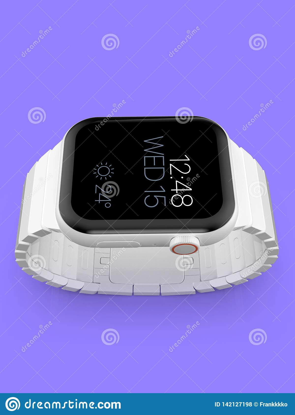 Apple Watch 4 white ceramic fictional rumor smartwatch, mockup