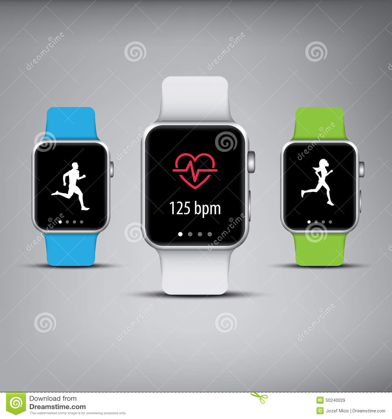 Smart Watch Technology With Sport Fitness Tracker Stock Vector ...