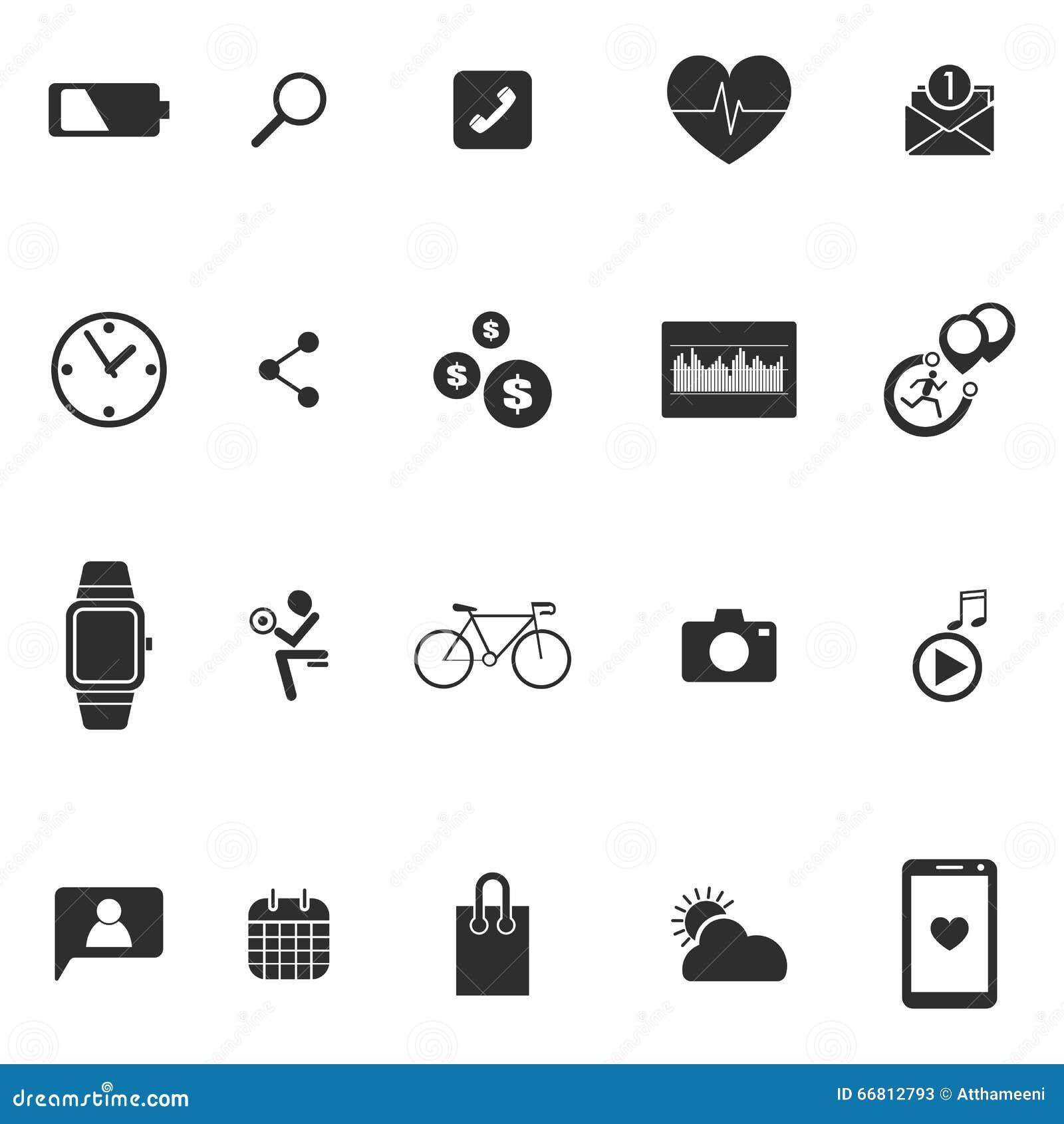 Hand Smart Watch Message App Wearable Technology Vector ...