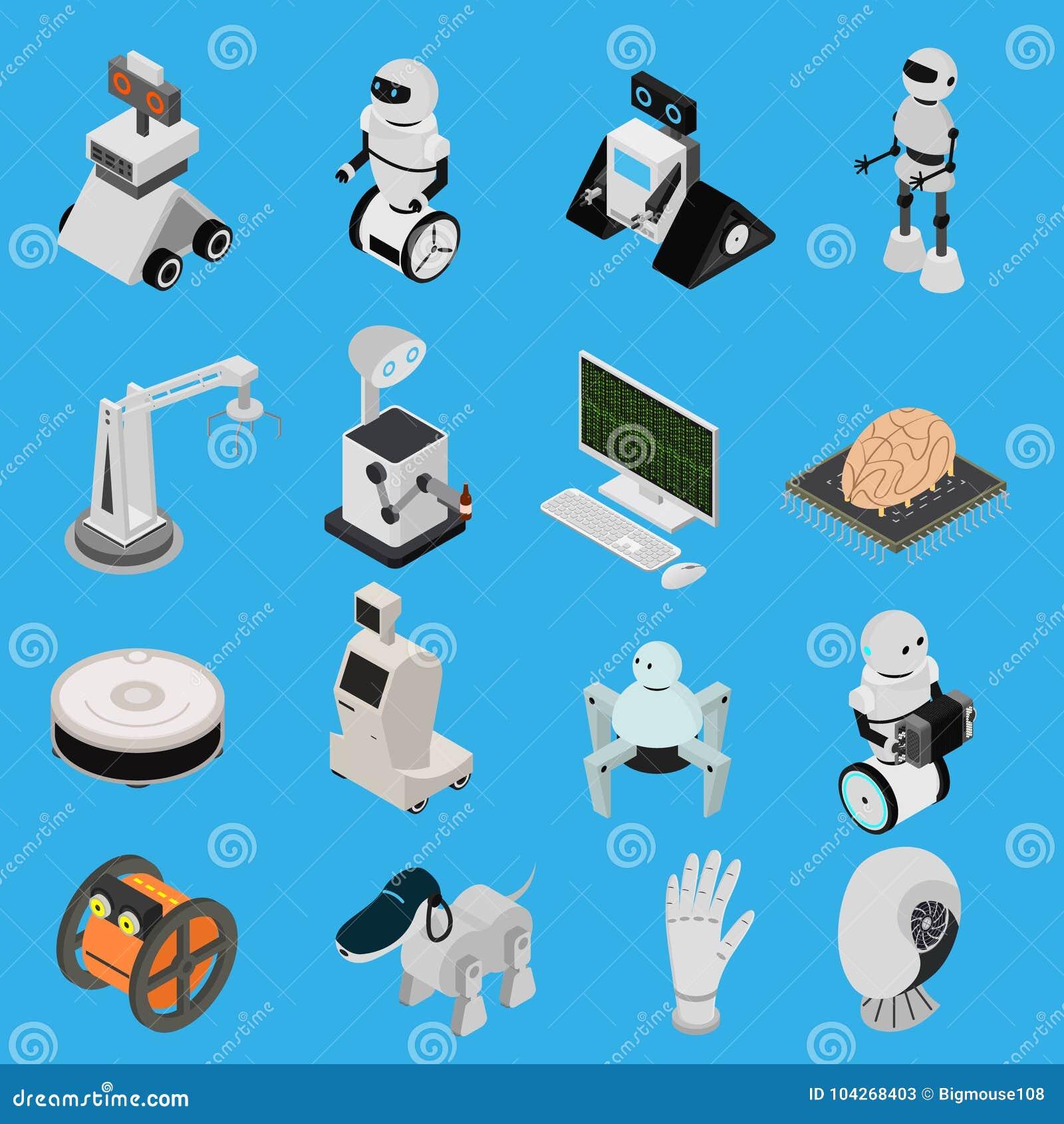 Smarta teknologiapparatsymboler ställde in isometrisk sikt vektor