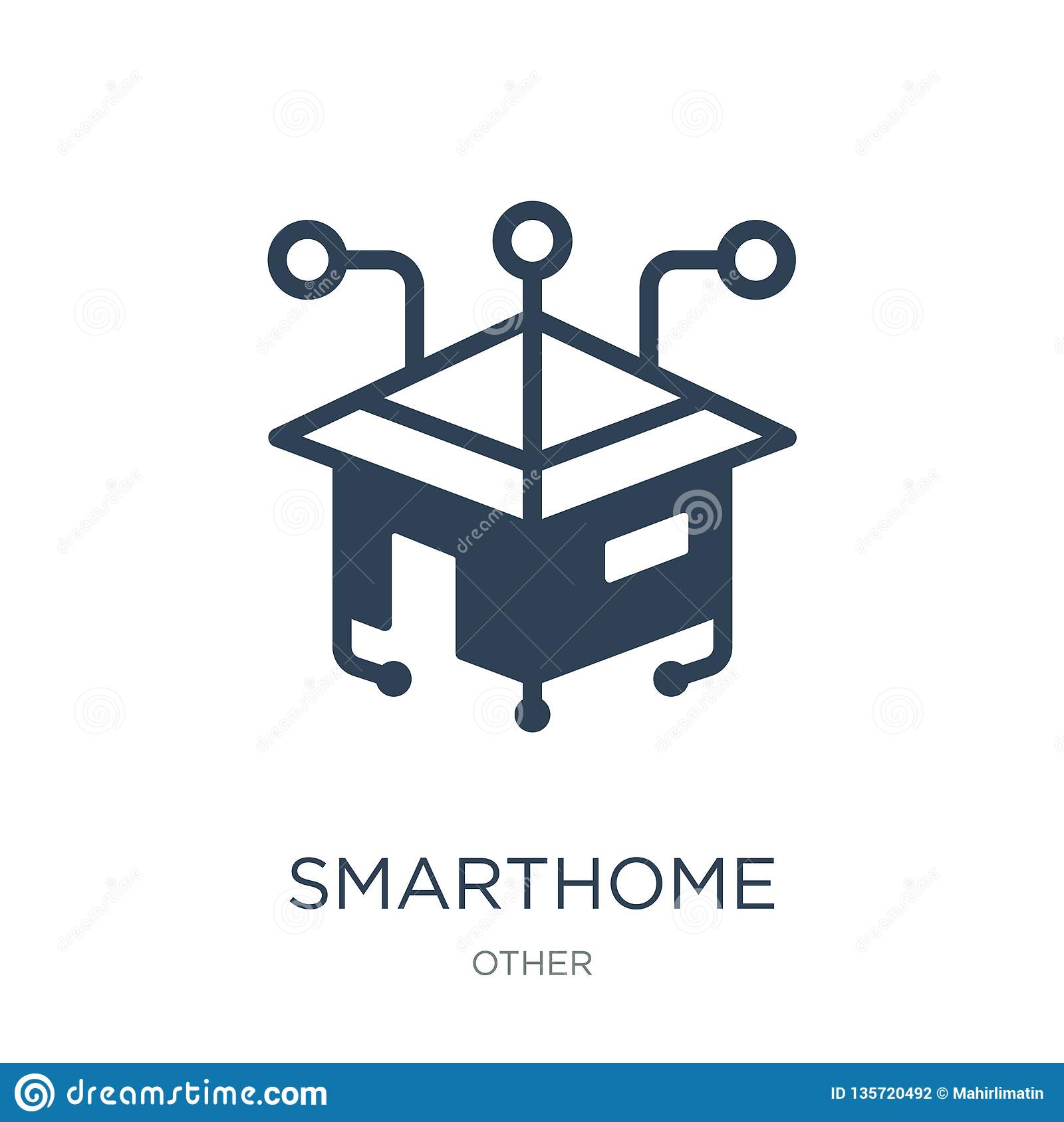 smarthome icon in trendy design style. smarthome icon isolated on white background. smarthome vector icon simple and modern flat