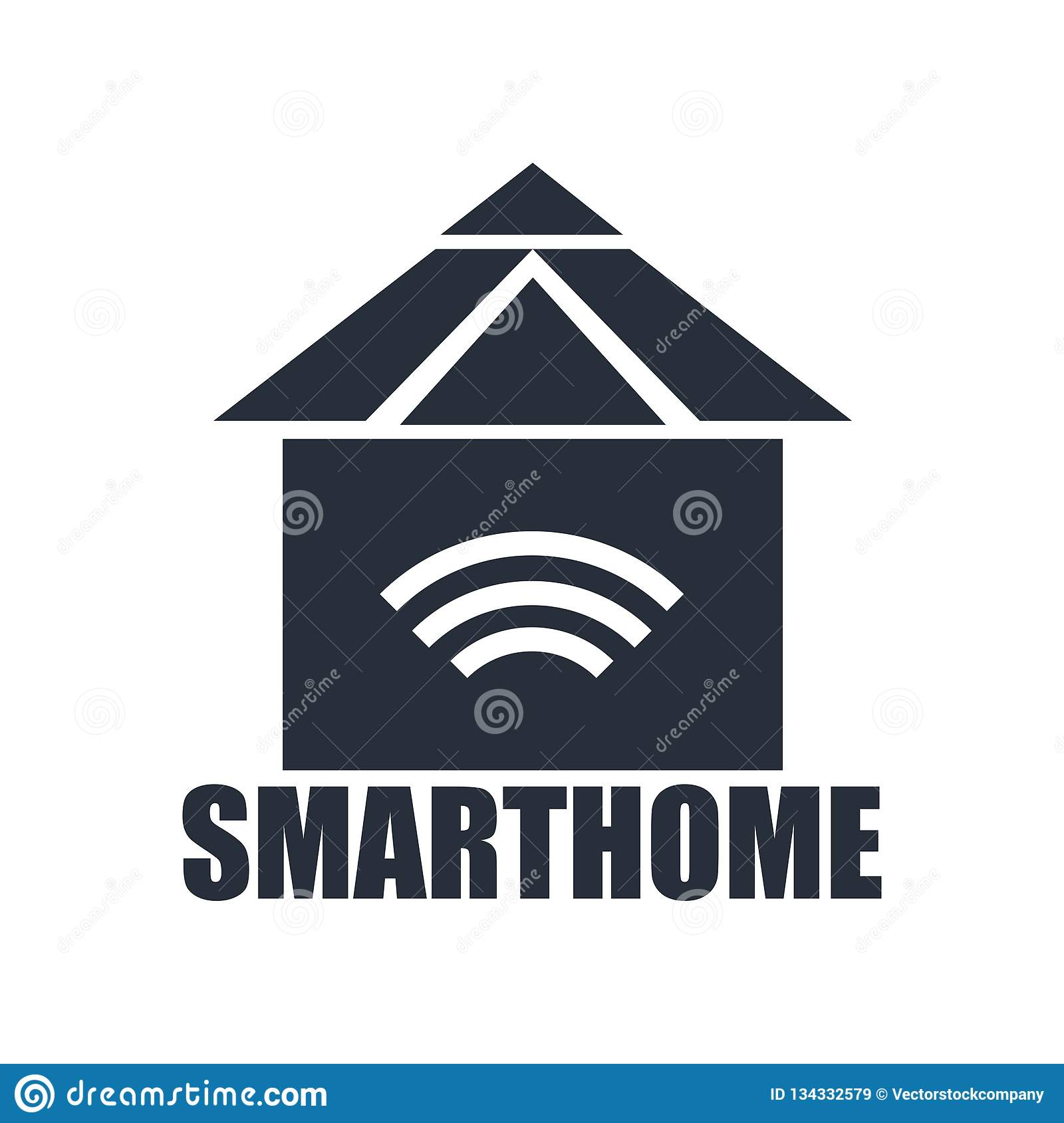 Smarthome icon vector sign and symbol isolated on white background, Smarthome logo concept