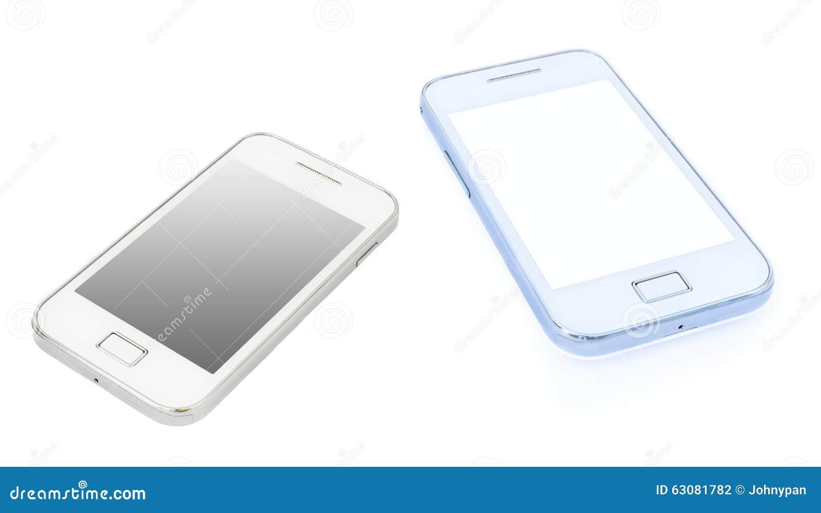 Download Smartphone photo stock. Image du écran, blanc, wireless - 63081782