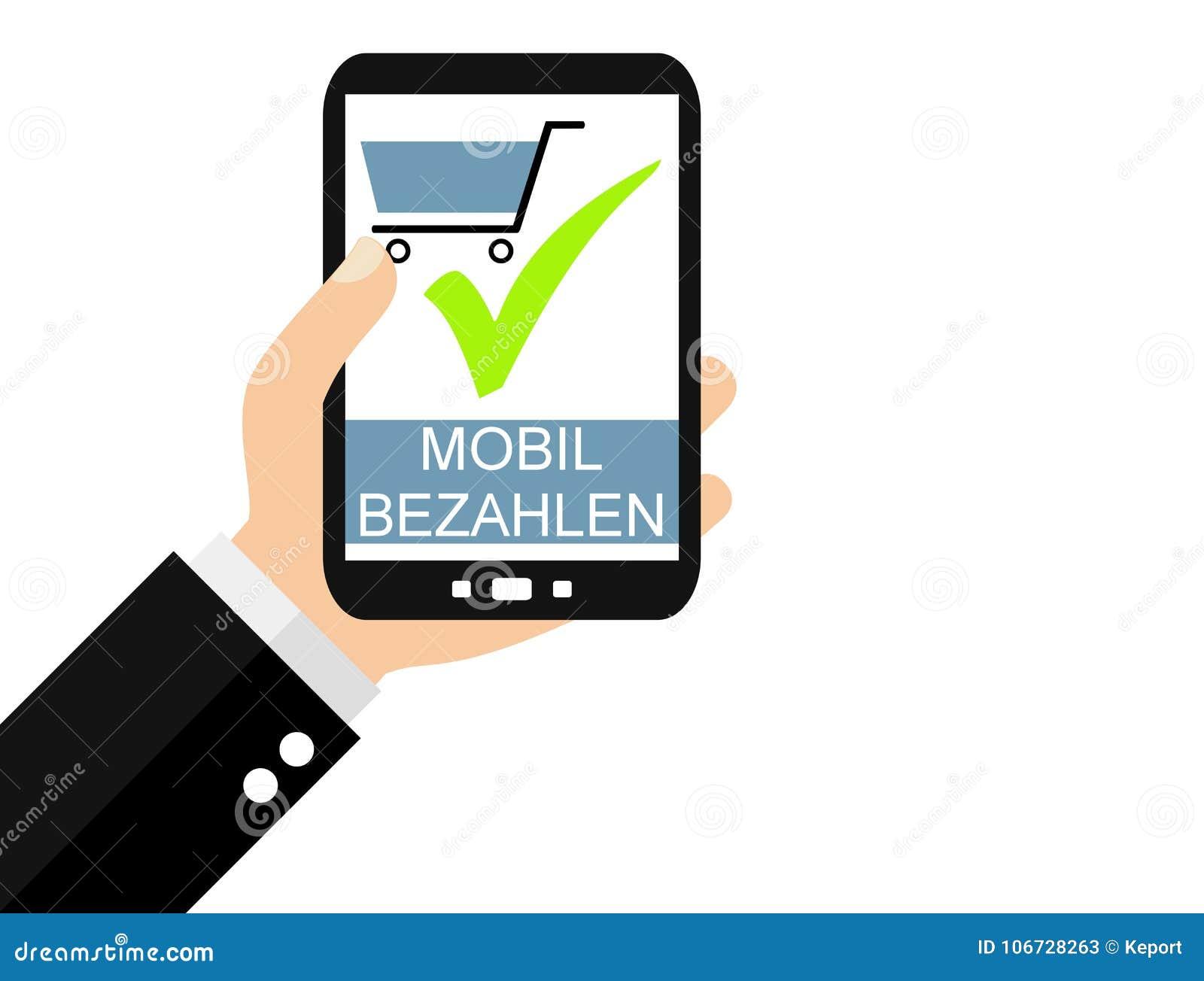 Smartphone : Allemand mobile de paiement - conception plate