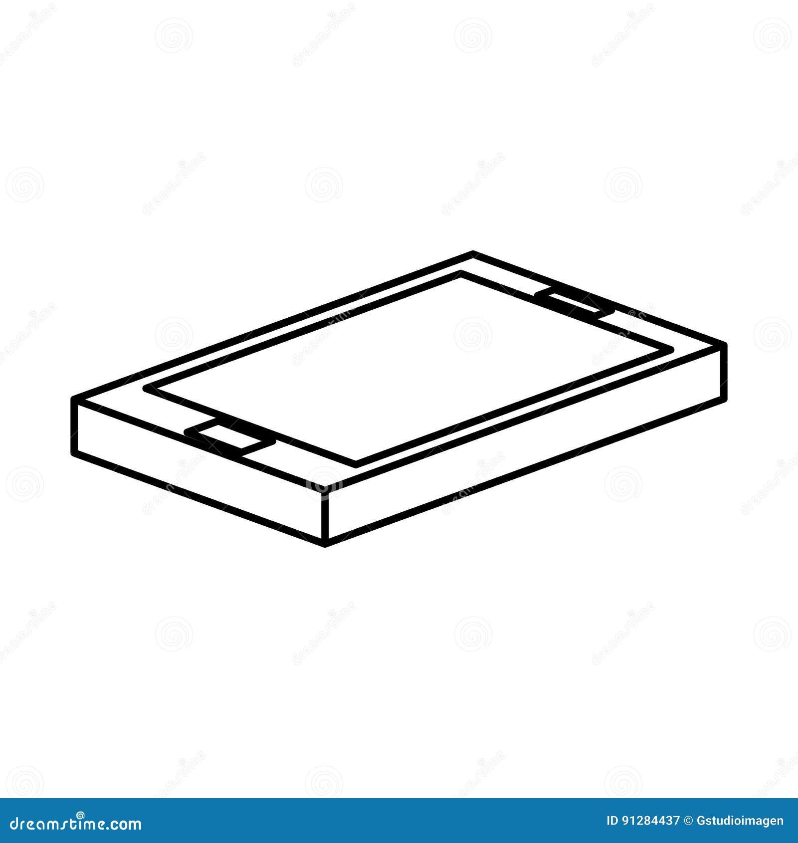 Smartphone apparat isolerad symbol