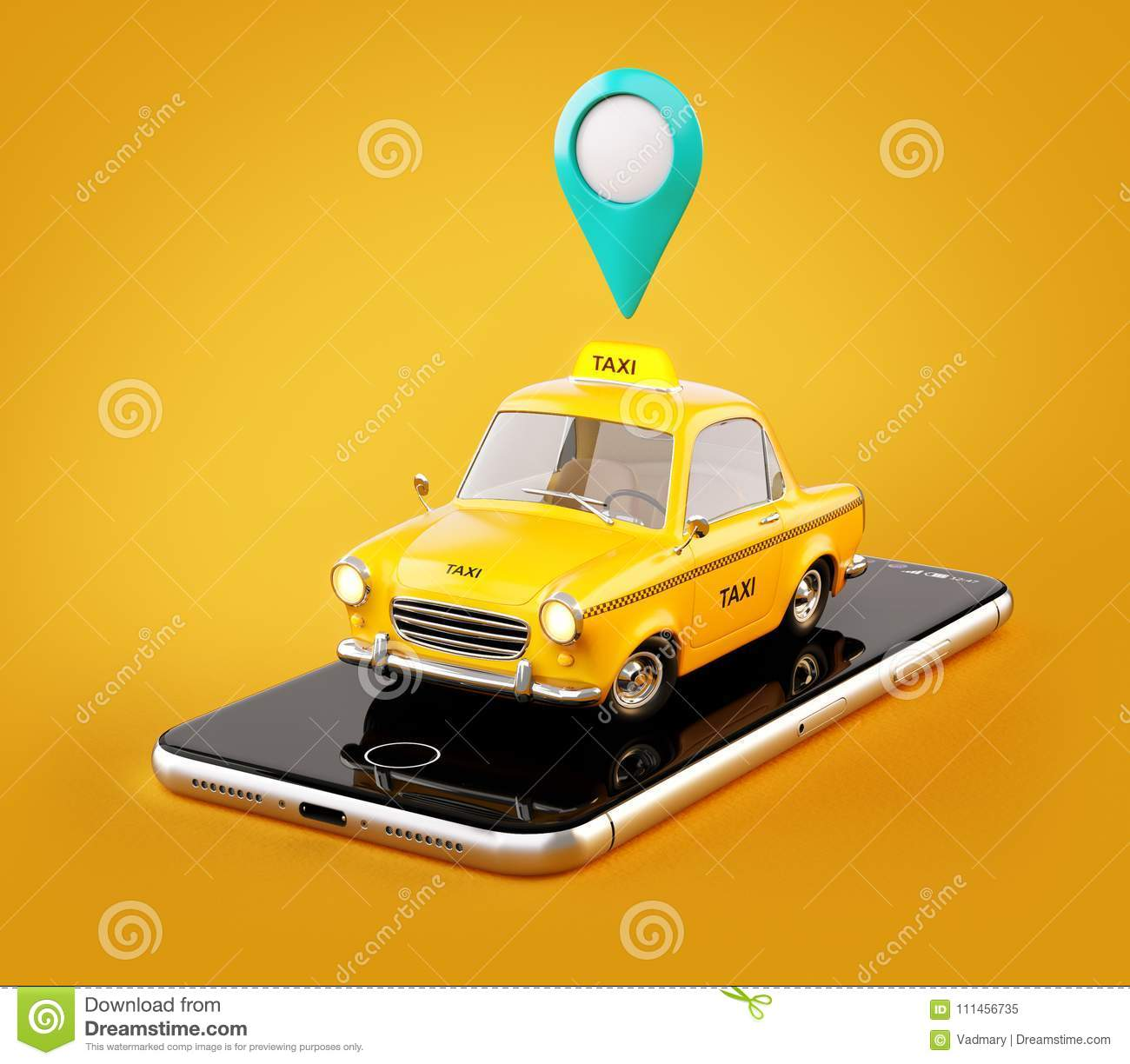 Smartphone application of taxi service for online searching calling and booking a cab.
