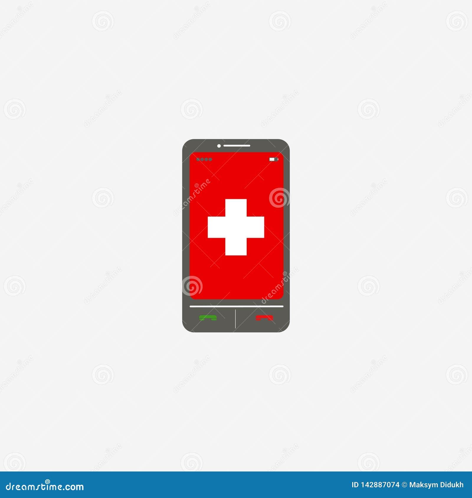 Smartphone, applicazioni Telefono cellulare sensitivo Illustrazione di vettore ENV 10