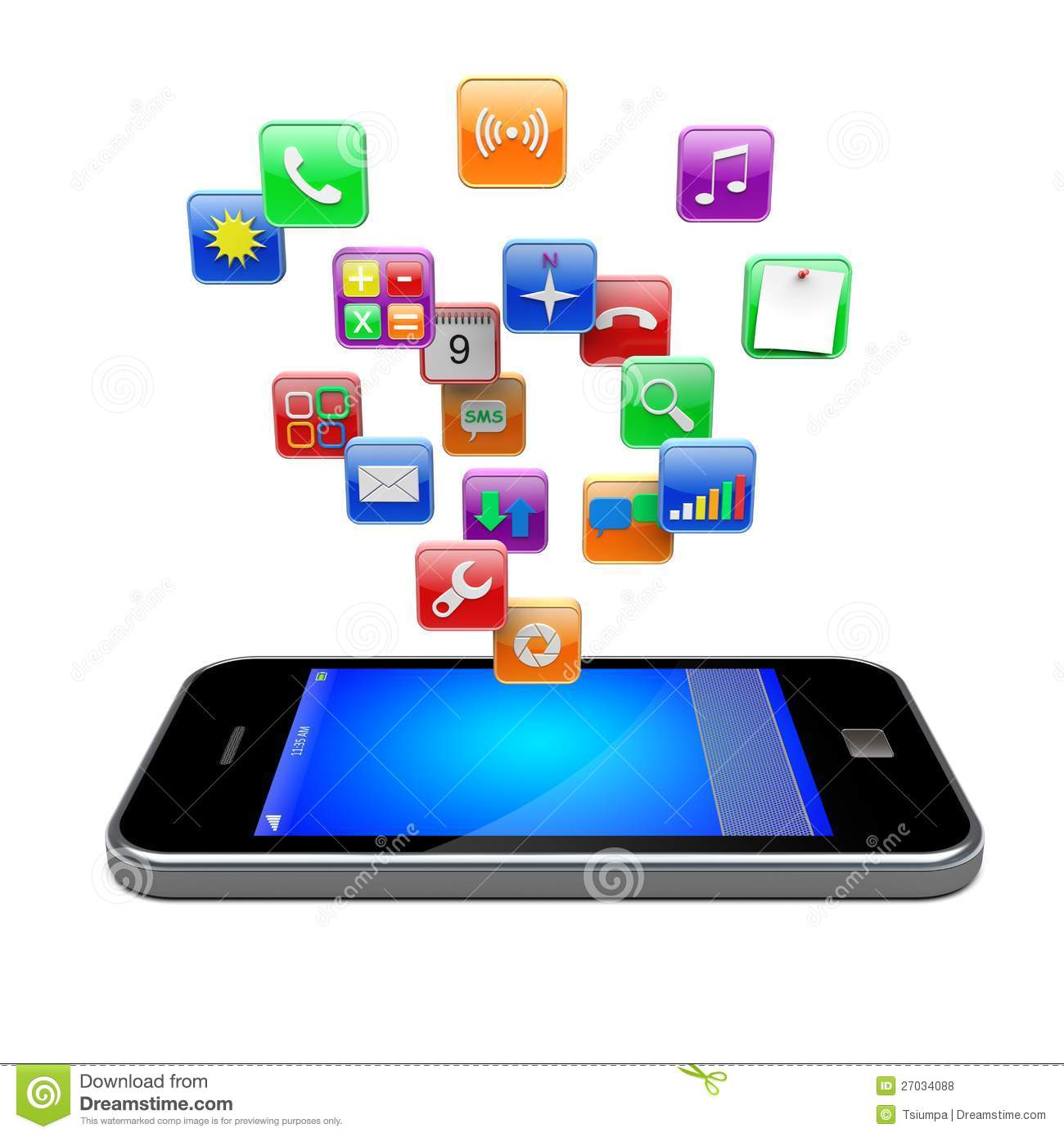 Pics photos cell phone clip art mobile phone icon royalty mobile - Smartphone Apps Icons Royalty Free Stock Photos Image