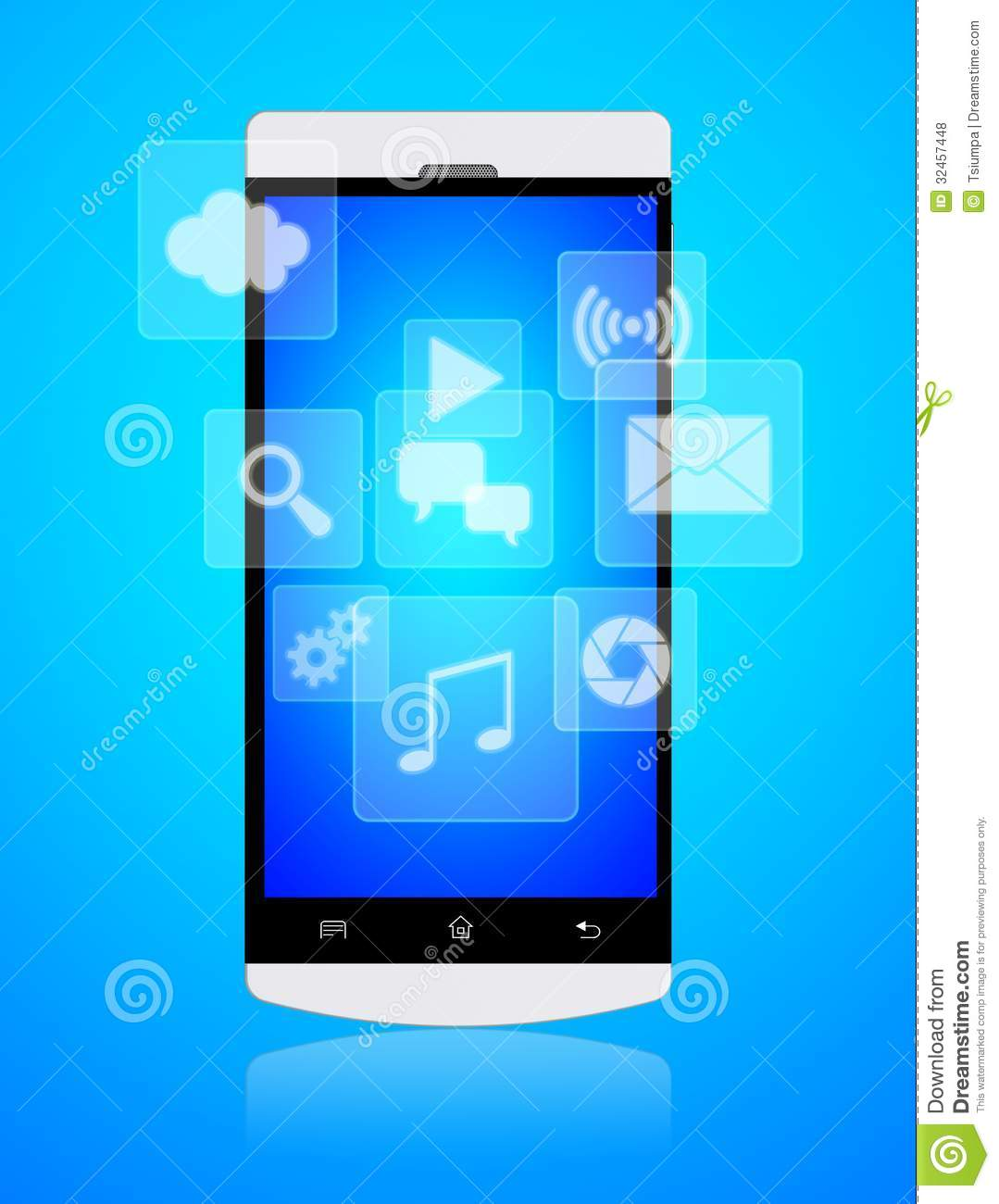 Smartphone Apps Royalty Free Stock Photos