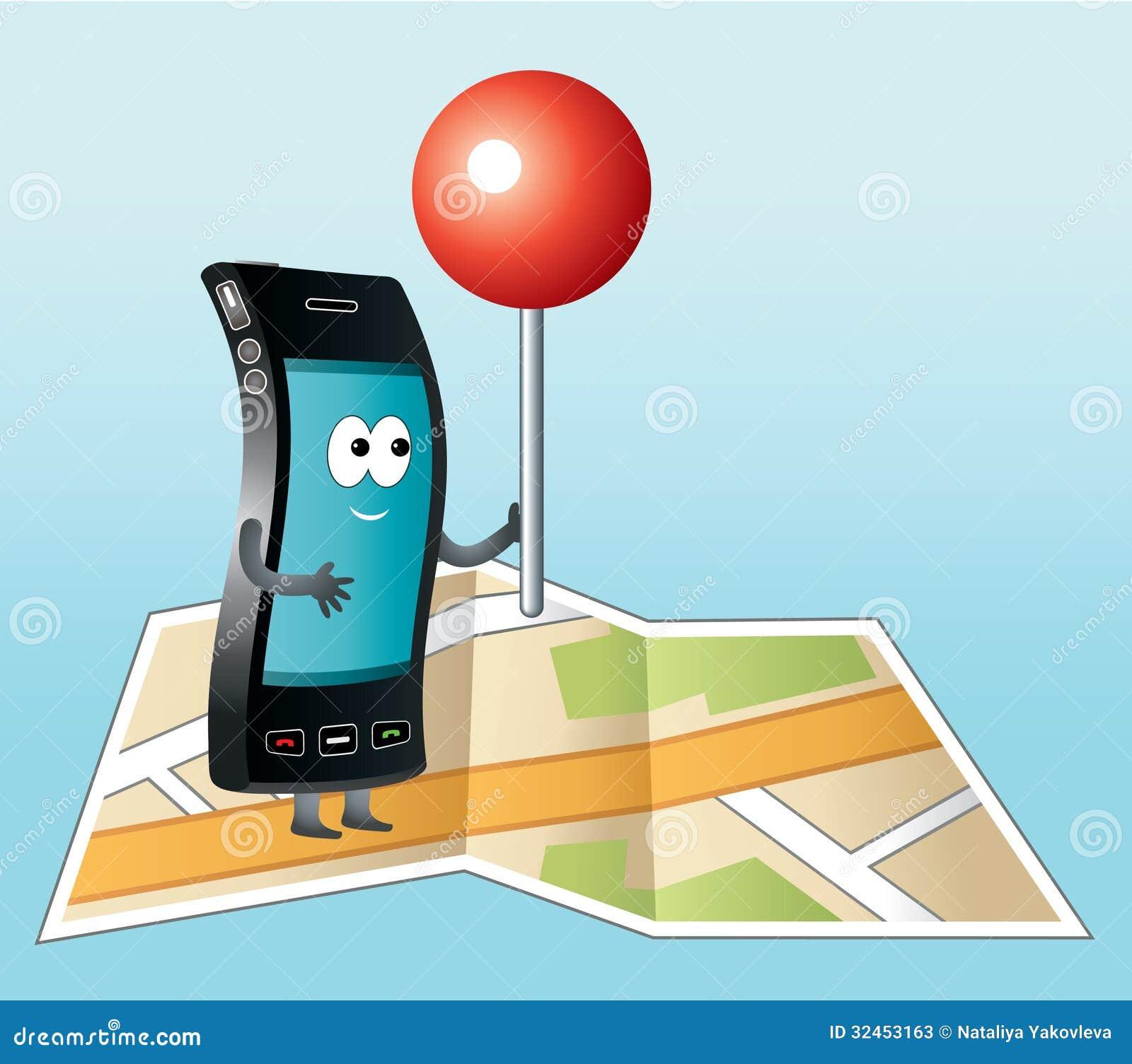 smartphone avec l 39 ic ne de gps photos stock image 32453163. Black Bedroom Furniture Sets. Home Design Ideas