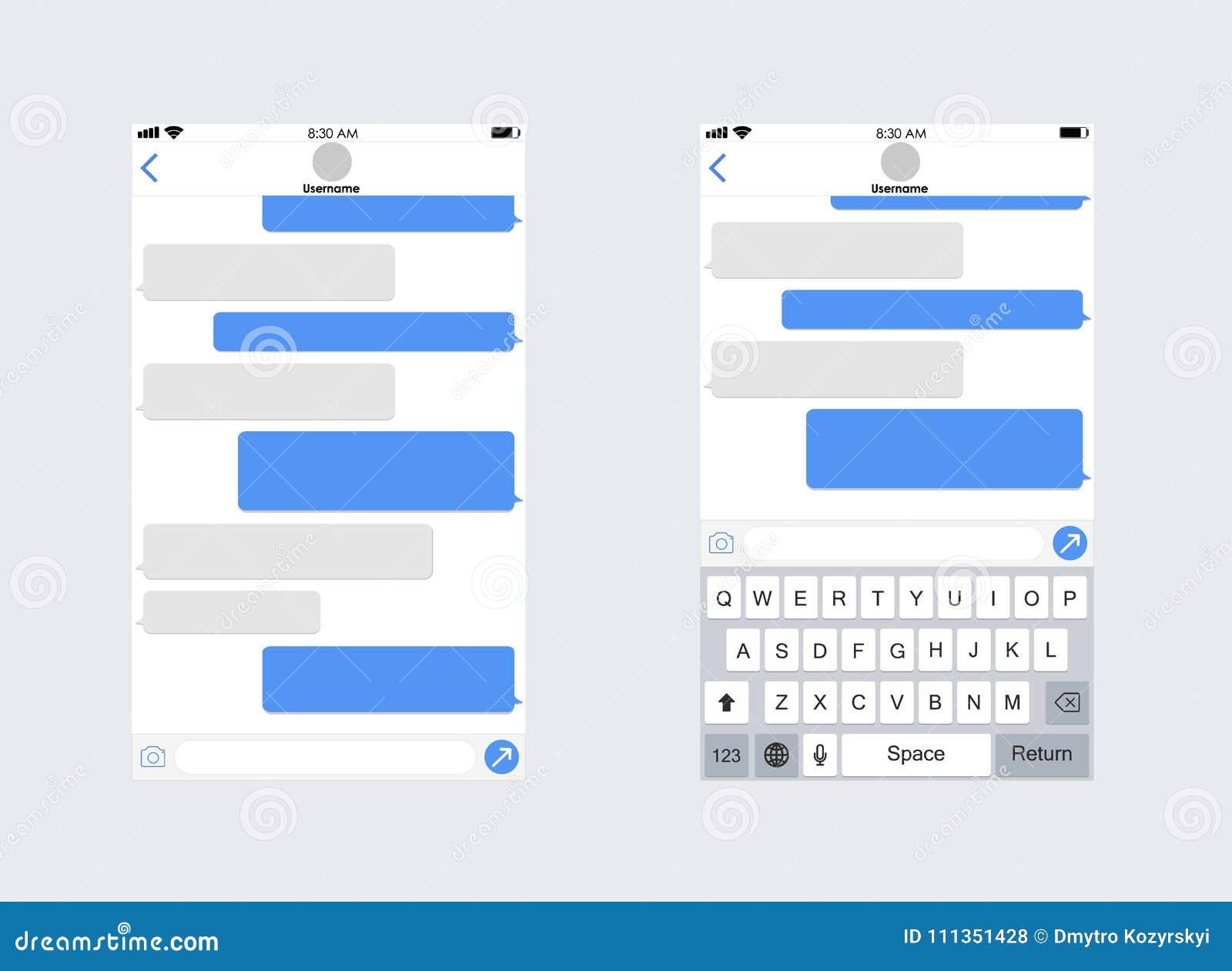 Smartphone avec les sms APP de transmission de messages Clavier de mobile de whith de calibre de la causerie APP le concept a dig