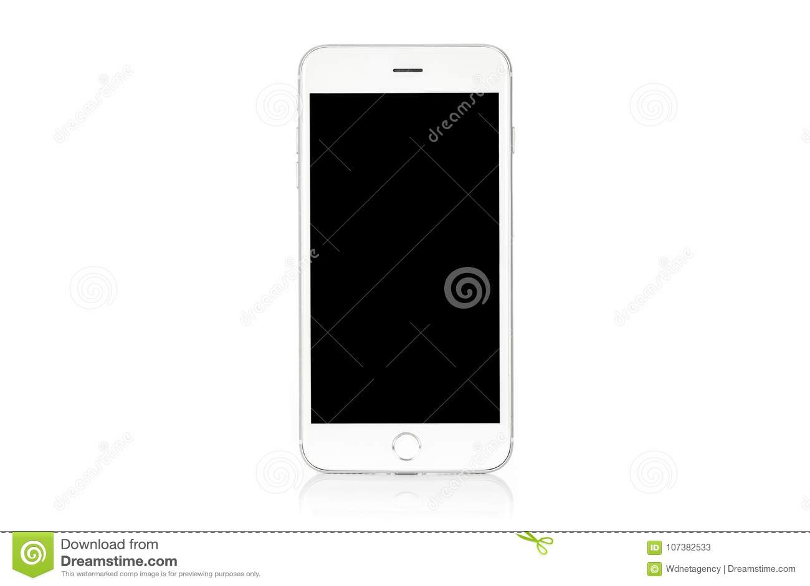 Smartphone blanc moderne